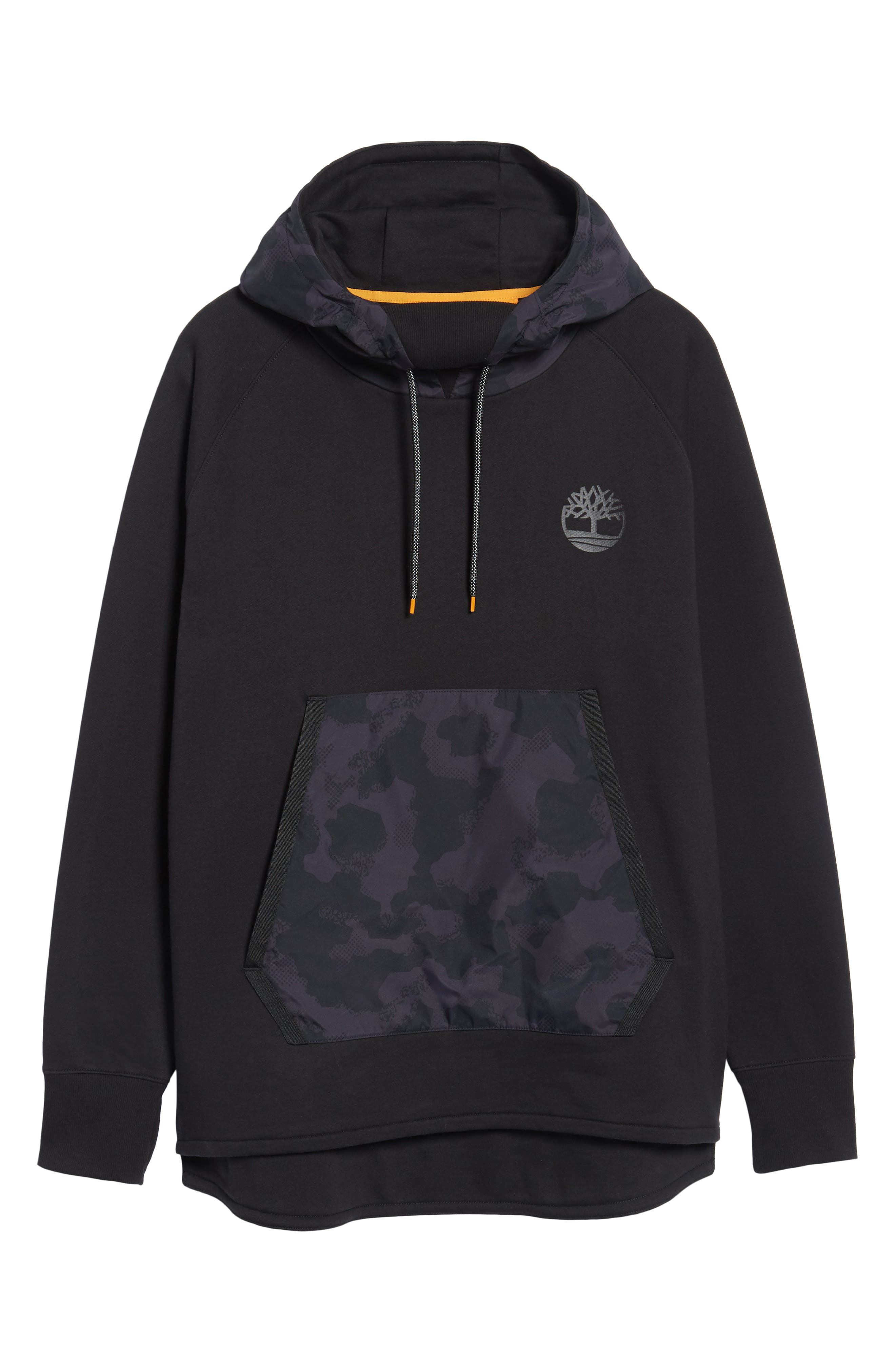 Mixed Media Oversize Hoodie,                             Alternate thumbnail 6, color,                             001