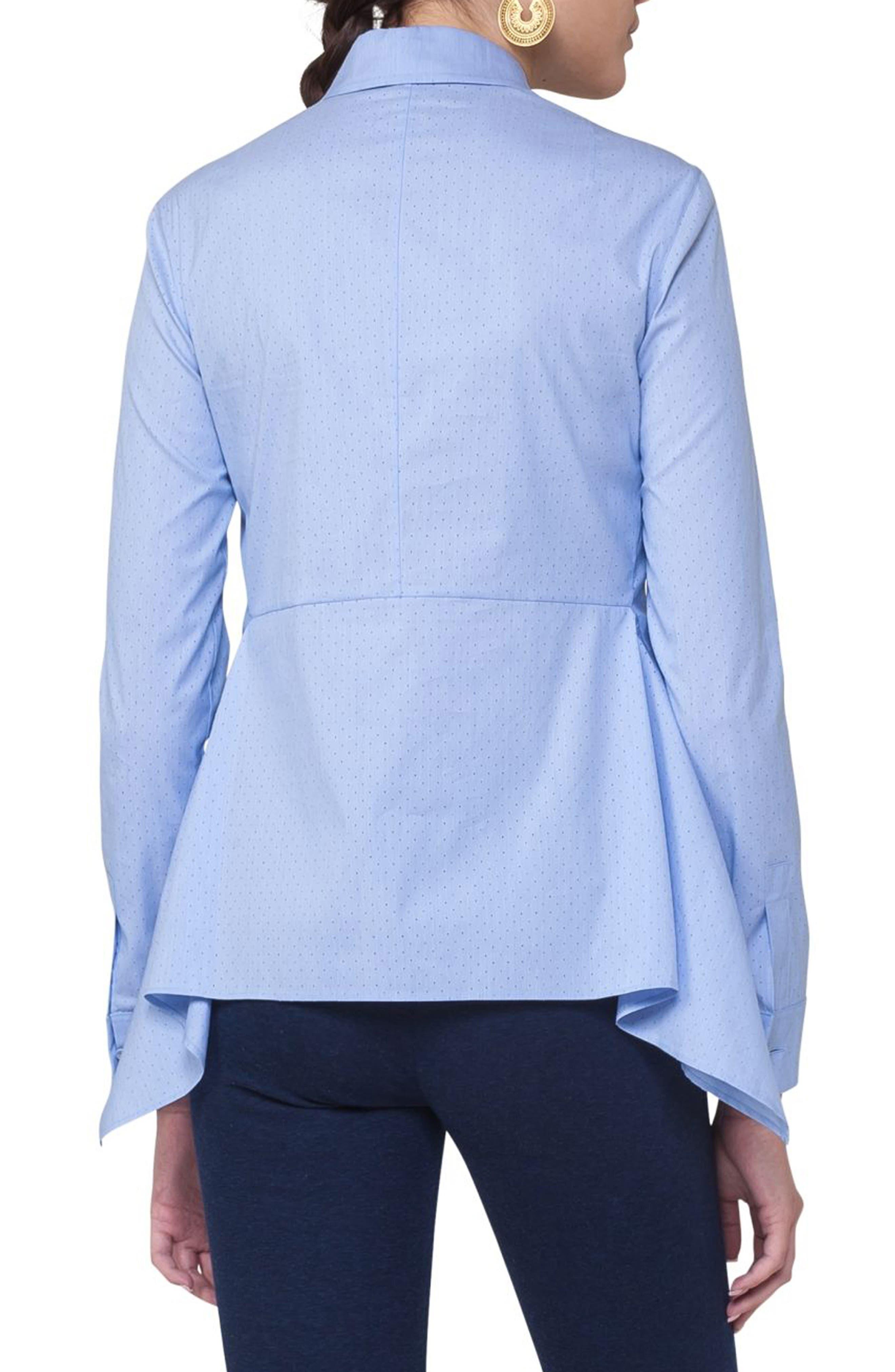Handkerchief Hem Cotton Blend Blouse,                             Alternate thumbnail 2, color,                             400