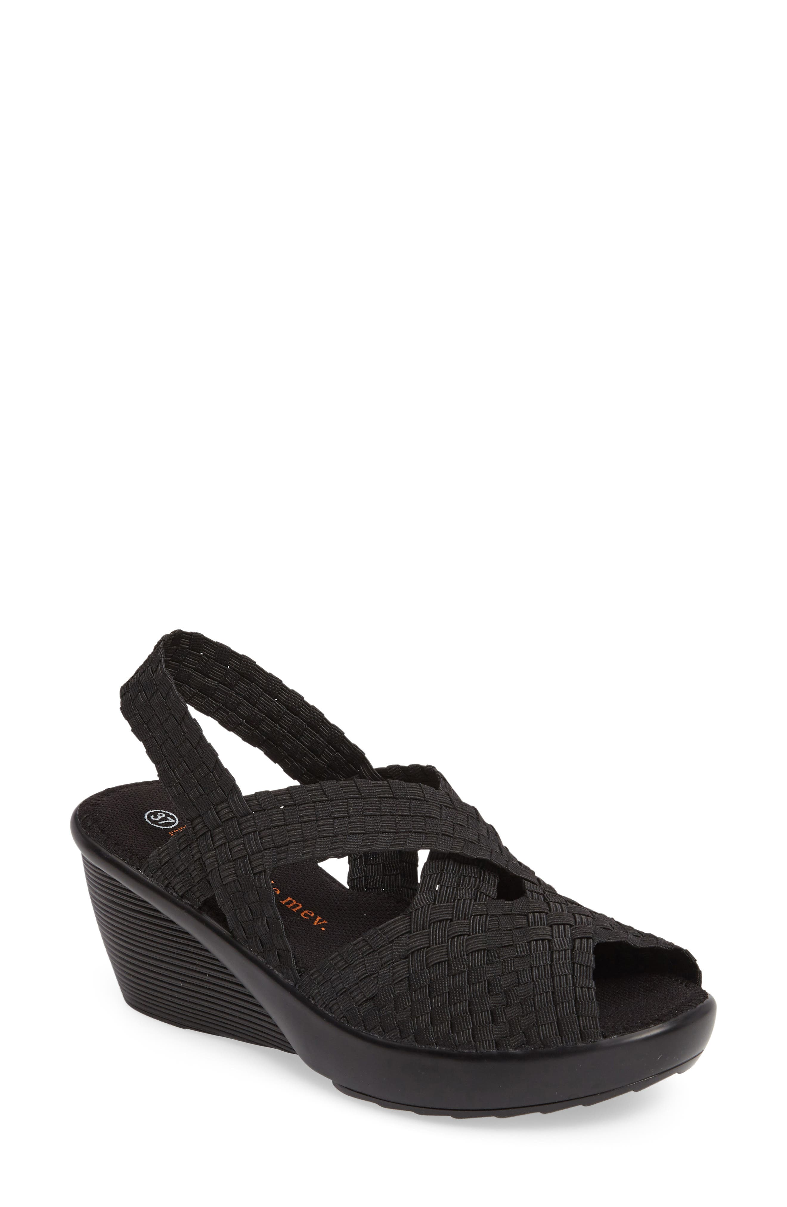 Fresh Brighten Sandal,                             Main thumbnail 1, color,                             BLACK FABRIC