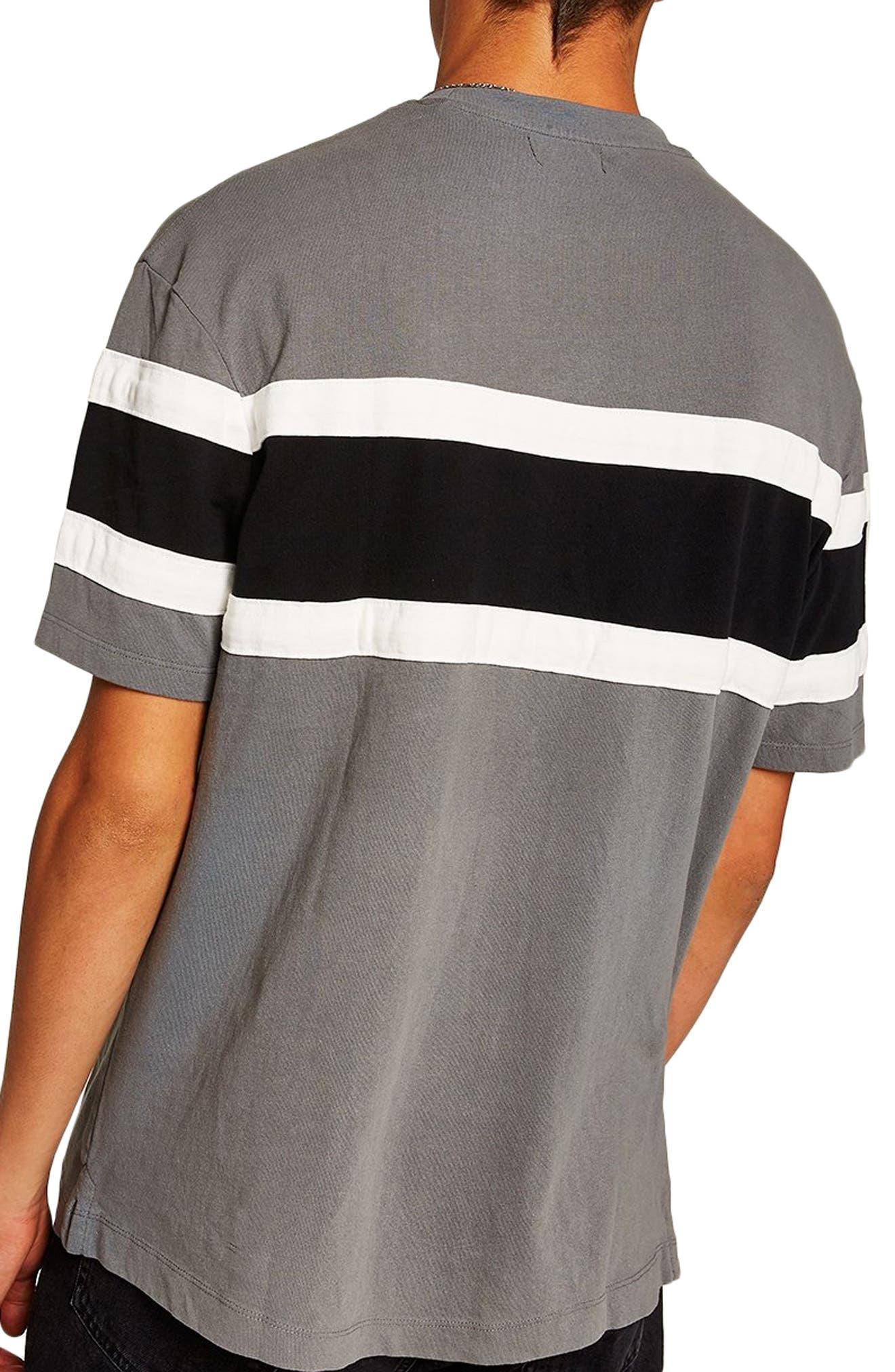Oversize Colorblock T-Shirt,                             Alternate thumbnail 2, color,                             BLACK MULTI