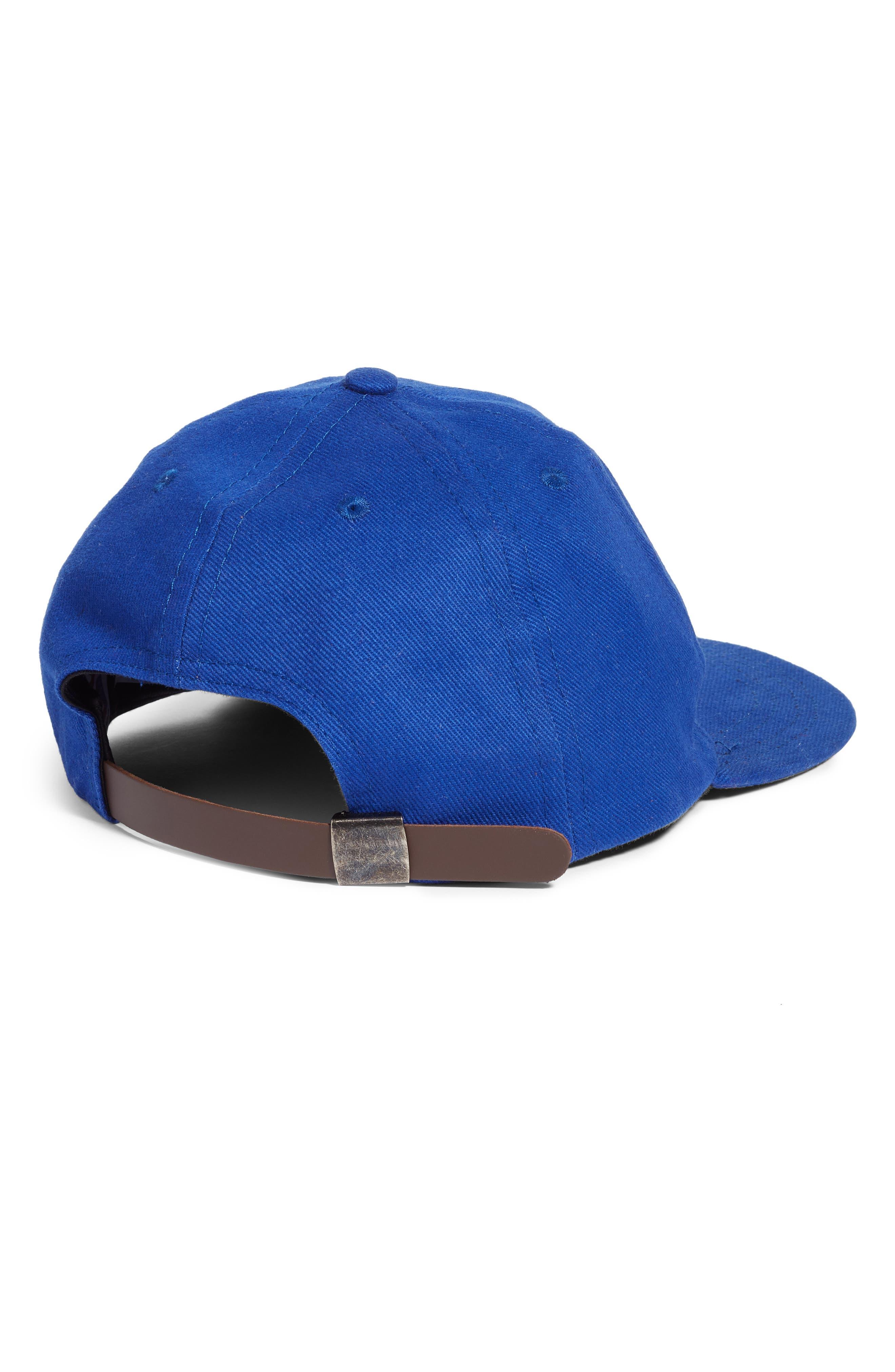 Beaded Cactus Baseball Hat,                             Alternate thumbnail 2, color,                             BLUE