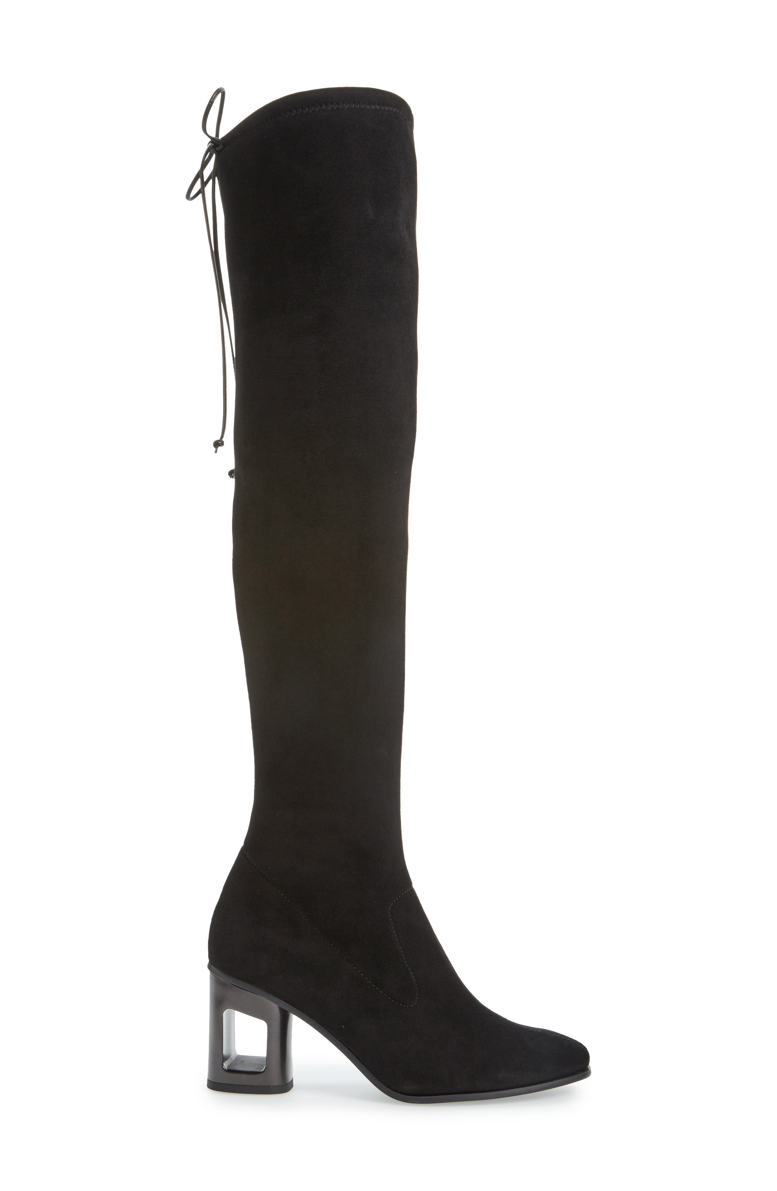 Melina Over the Knee Boot,                             Alternate thumbnail 3, color,                             BLACK LEATHER