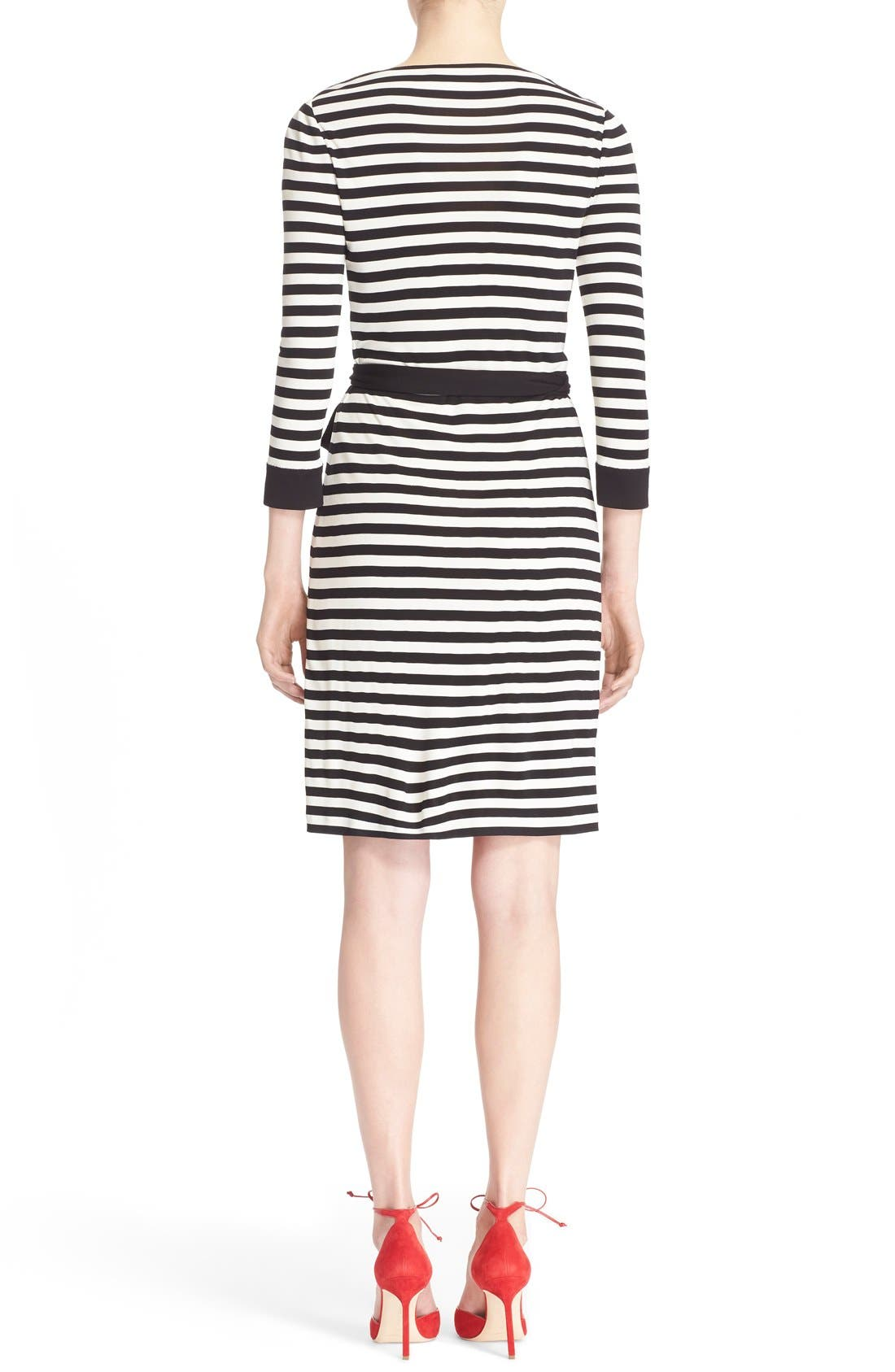 DIANE VON FURSTENBERG,                             'New Julian Two' Wrap Dress,                             Alternate thumbnail 5, color,                             011