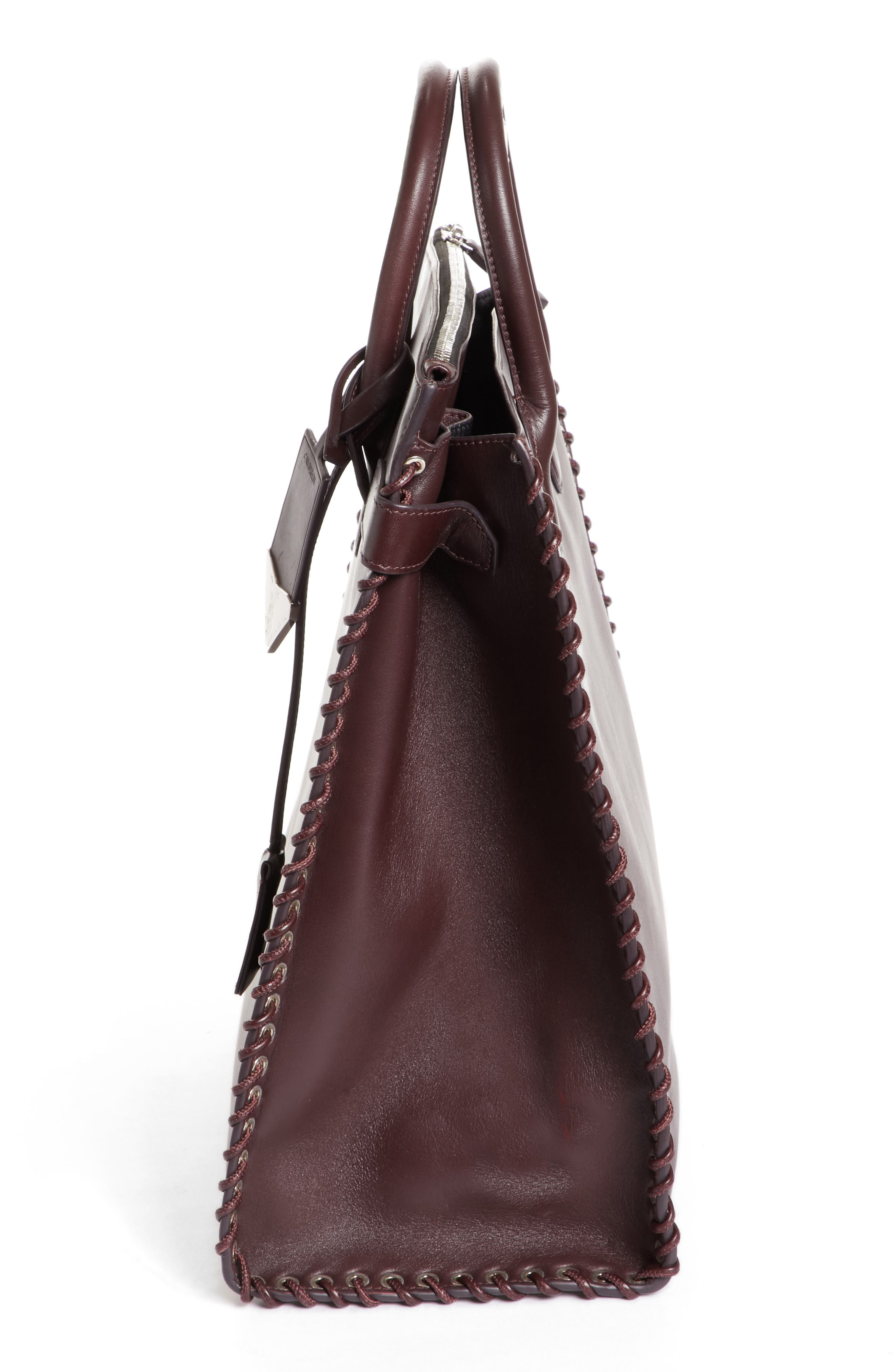 Whipstitch Calfskin Tote,                             Alternate thumbnail 5, color,                             200