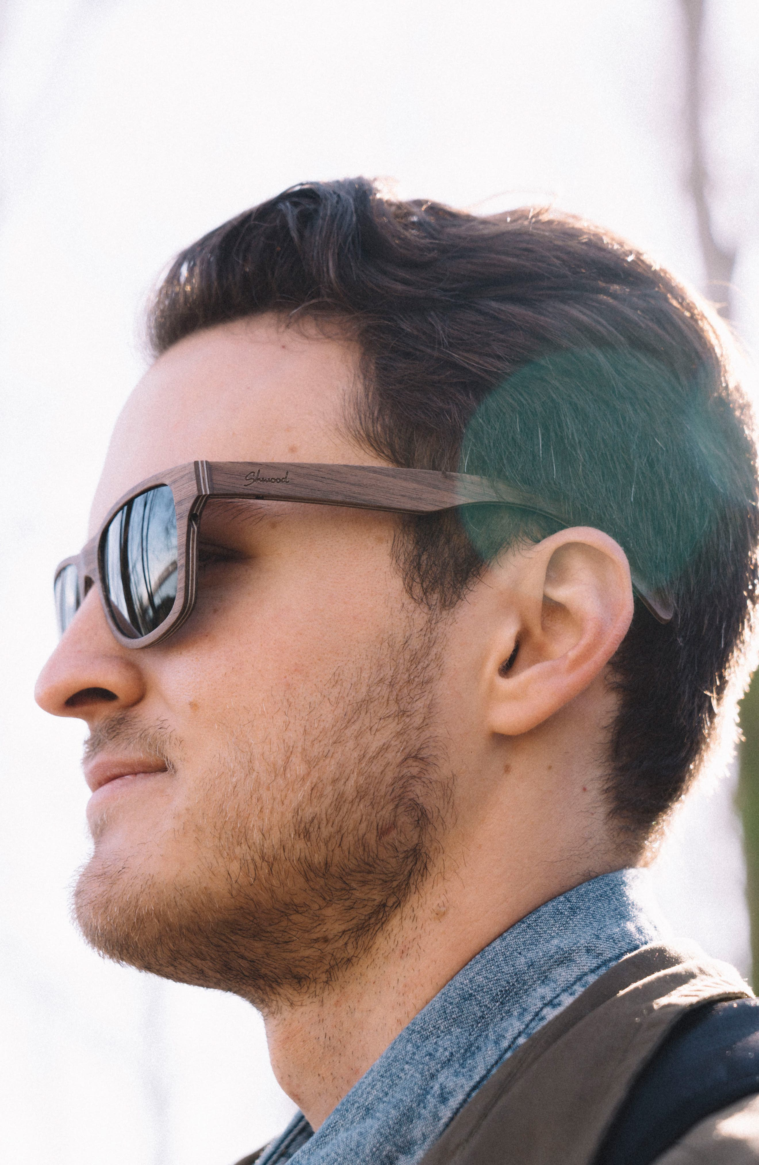 'Canby' 54mm Wood Sunglasses,                             Alternate thumbnail 2, color,                             210
