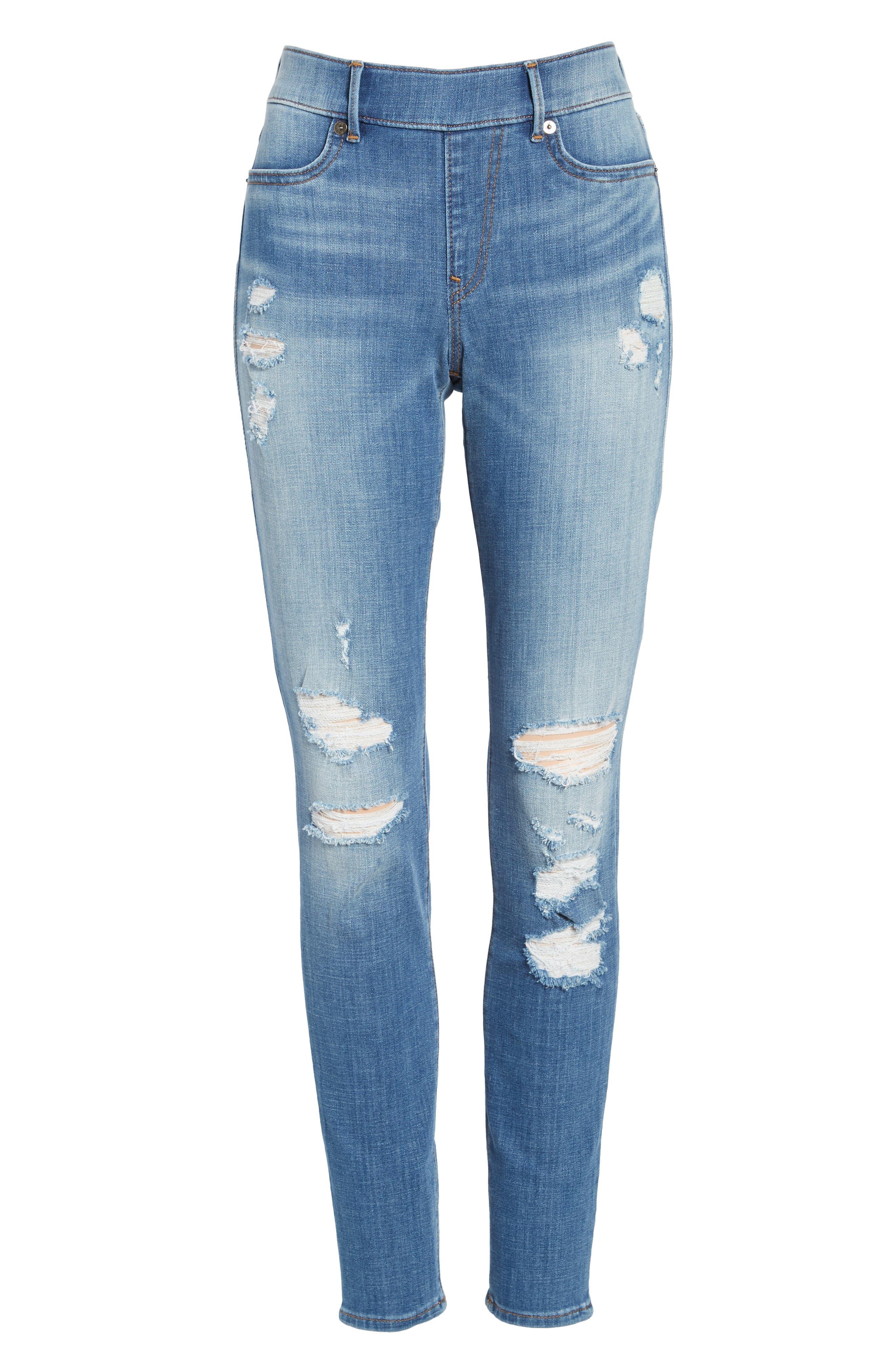 Jennie Runway Curvy Skinny Jeans,                             Alternate thumbnail 6, color,                             400