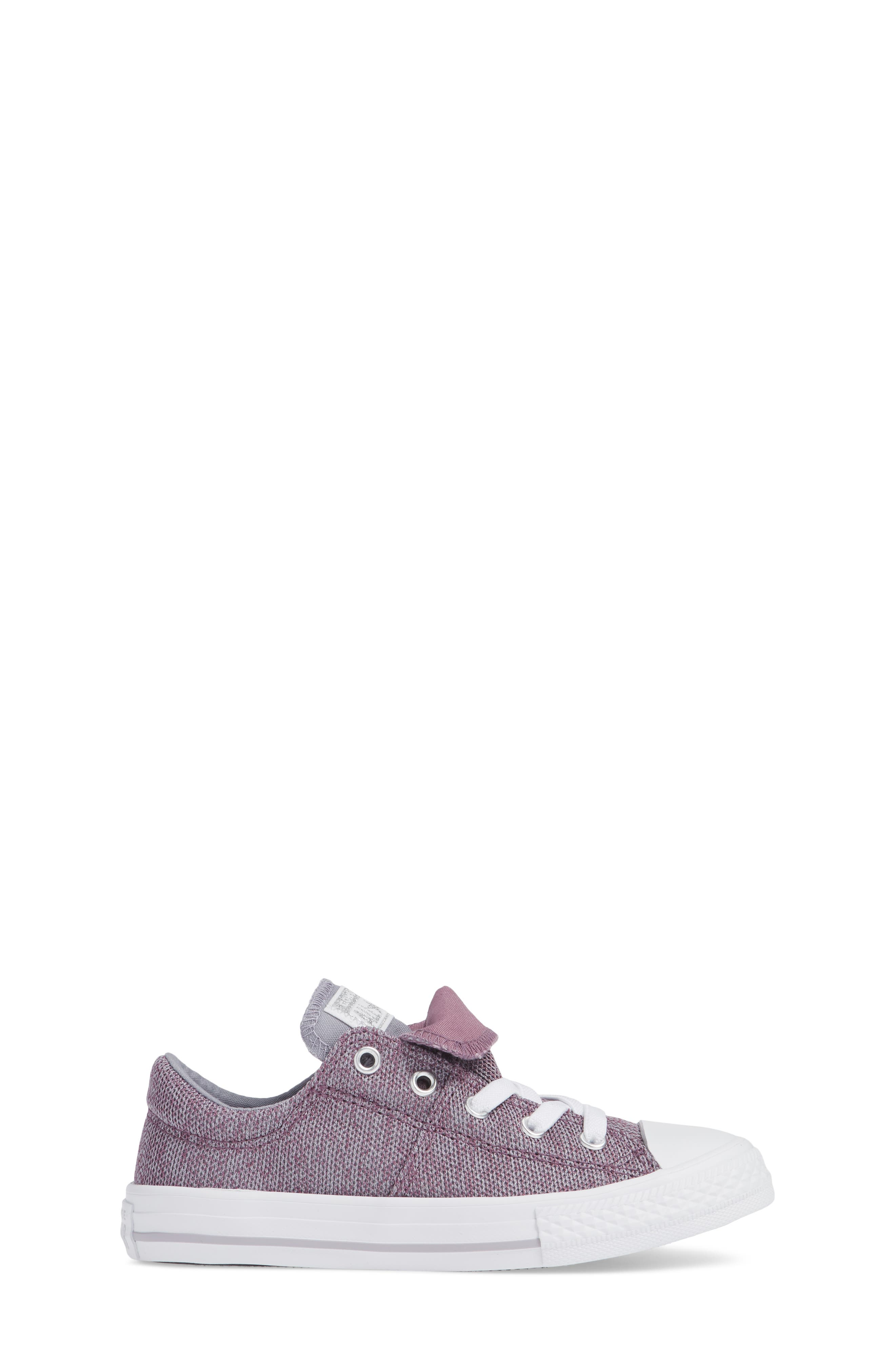 Chuck Taylor<sup>®</sup> All Star<sup>®</sup> Maddie Double Tongue Sneaker,                             Alternate thumbnail 3, color,                             VIOLET DUST