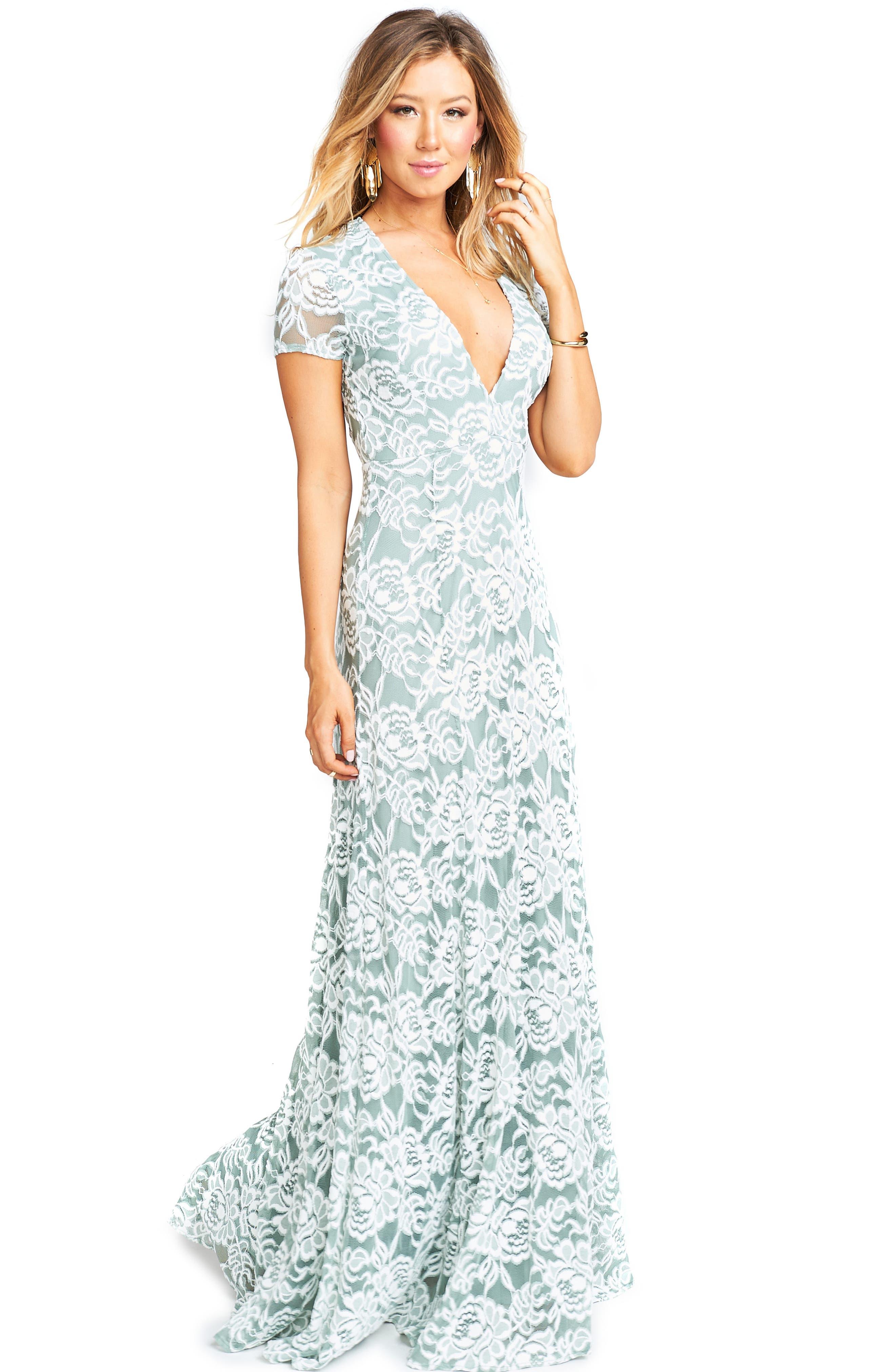 Eleanor Lace Gown,                             Alternate thumbnail 5, color,