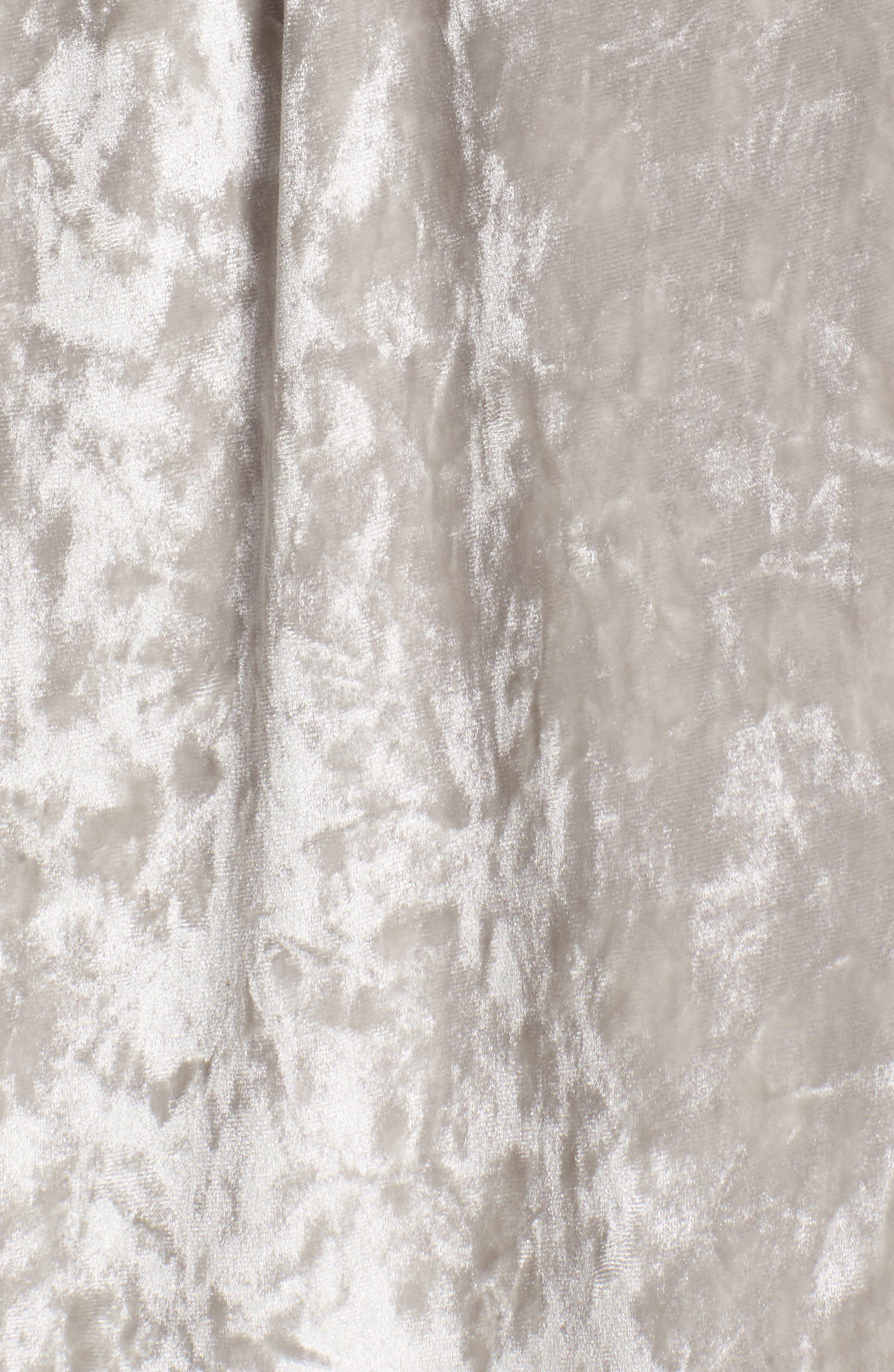 Crushed Velvet Short Robe,                             Alternate thumbnail 5, color,