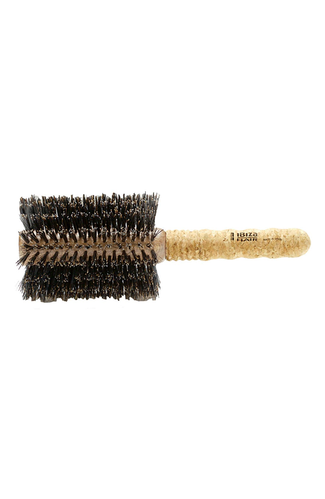 Ibiza Collection Extended Cork Round Brush,                             Main thumbnail 1, color,                             NO COLOR