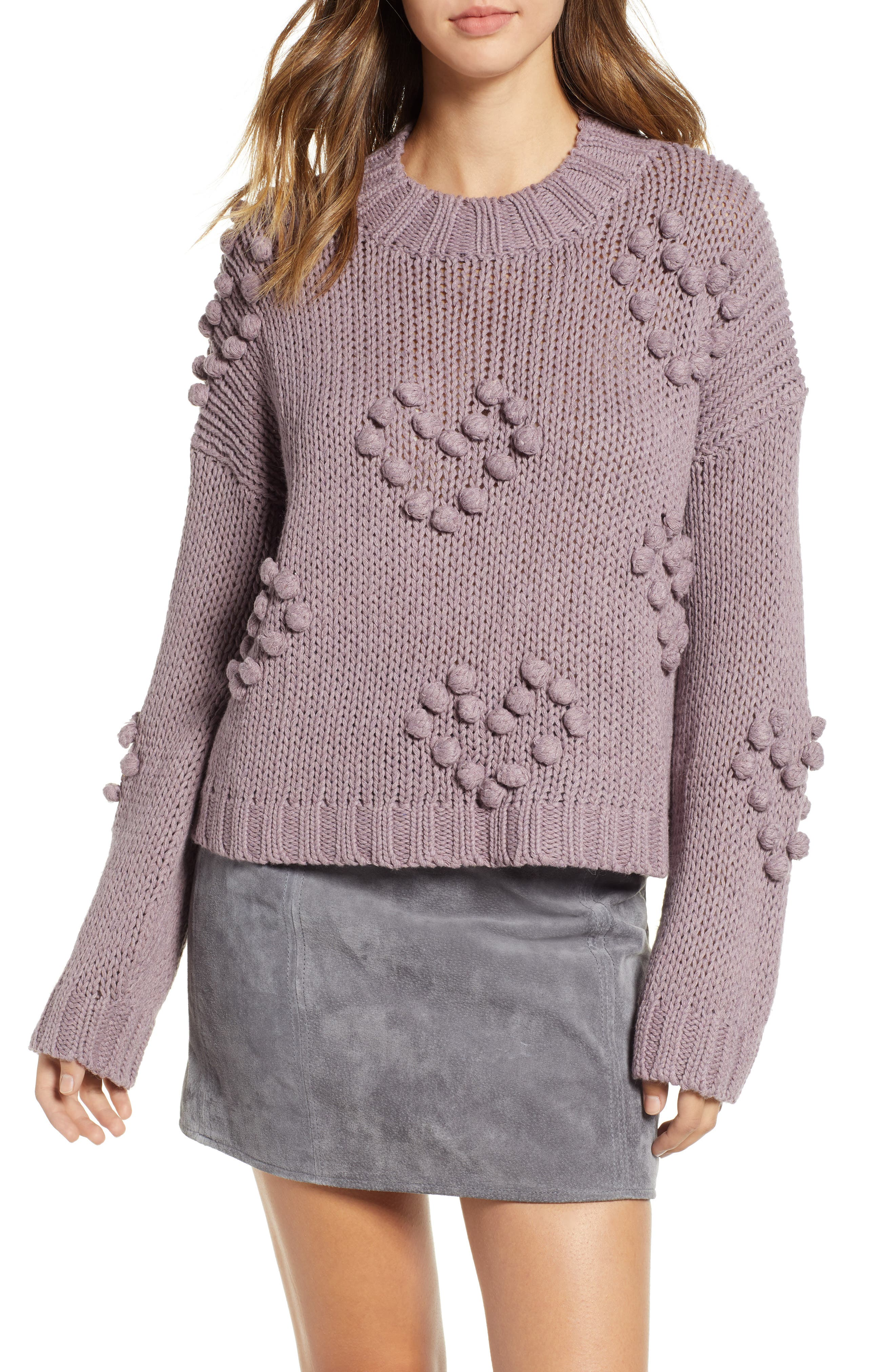 Placement Knot Knit Sweater, Main, color, 300