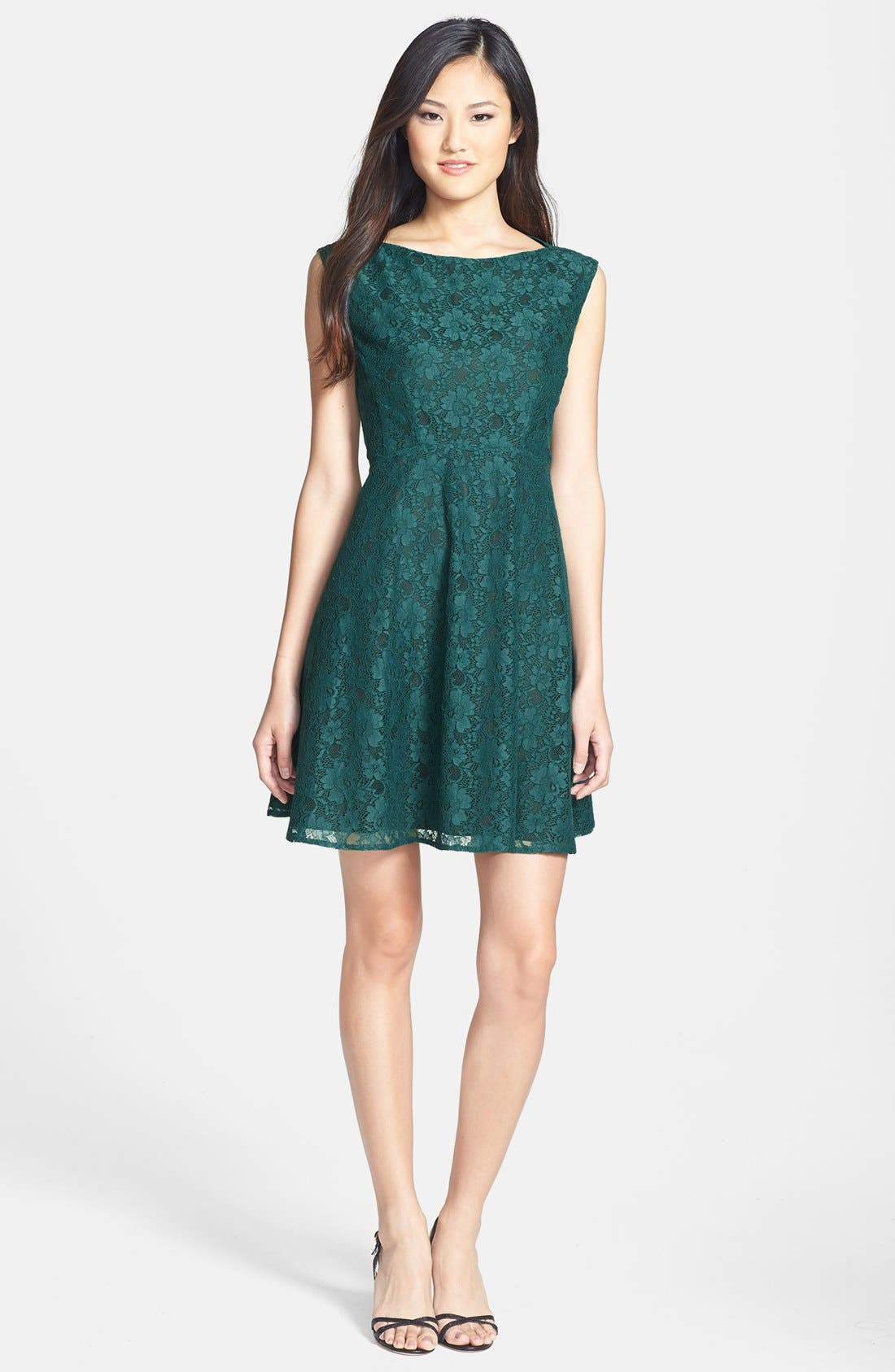 Fit & Flare Dress,                             Alternate thumbnail 2, color,                             325