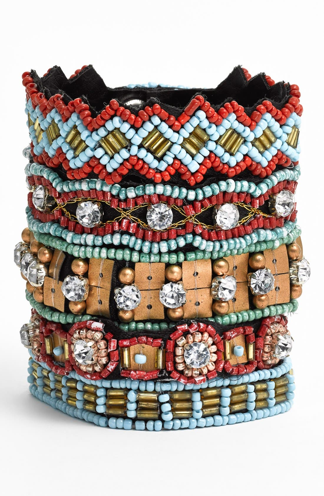 CARA Couture Embellished Cuff Bracelet, Main, color, 400