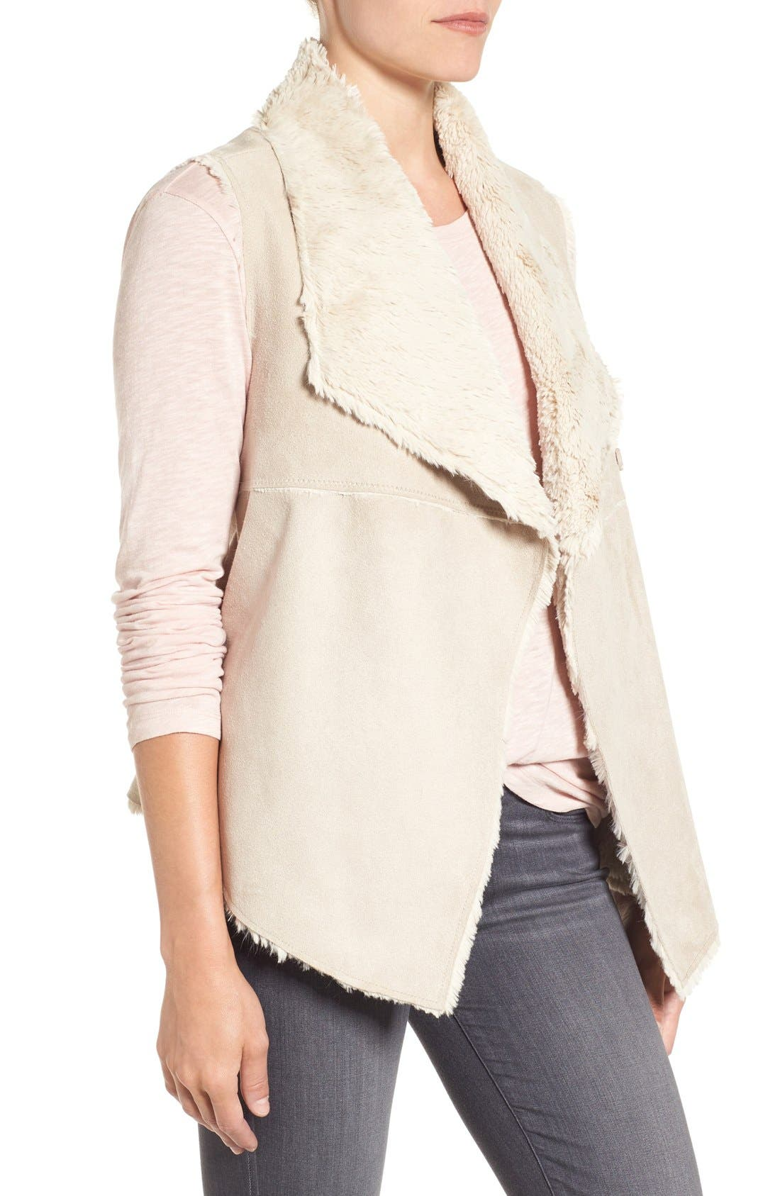 DYLAN,                             'Madison' Faux Shearling Vest,                             Alternate thumbnail 4, color,                             256