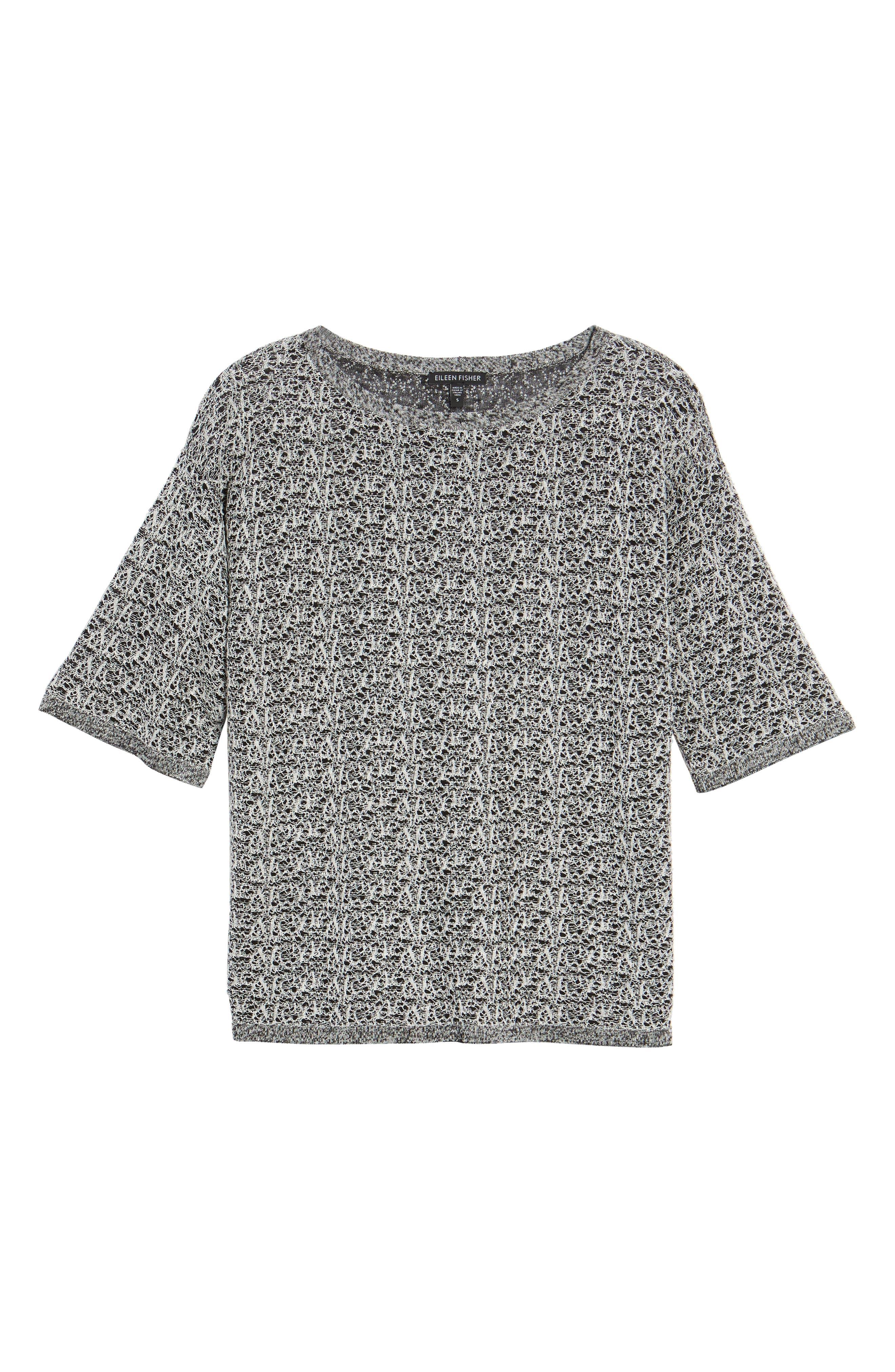 Organic Linen Blend Knit Top,                             Alternate thumbnail 6, color,