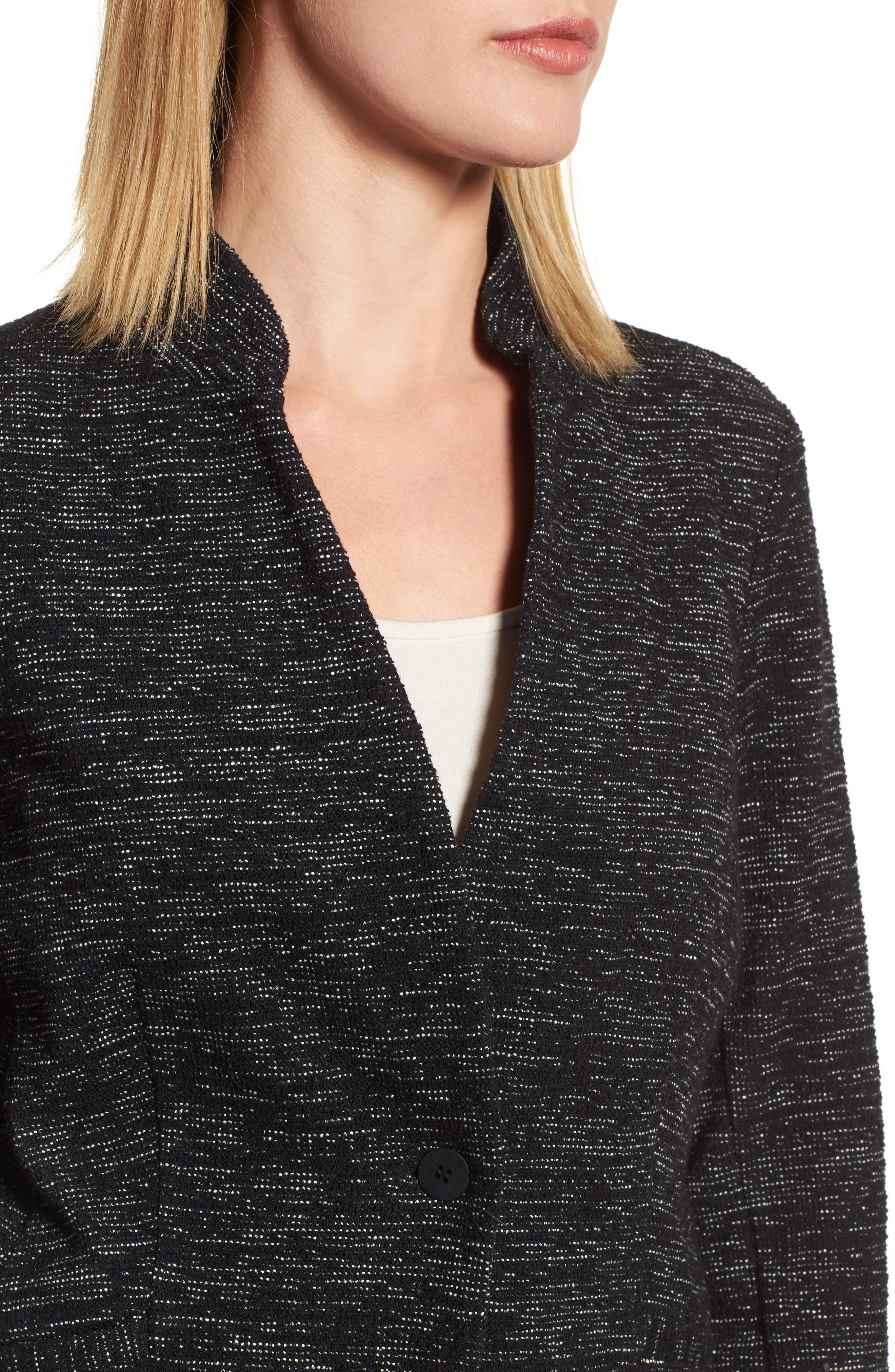Organic Cotton Blend Tweed Jacket,                             Alternate thumbnail 4, color,