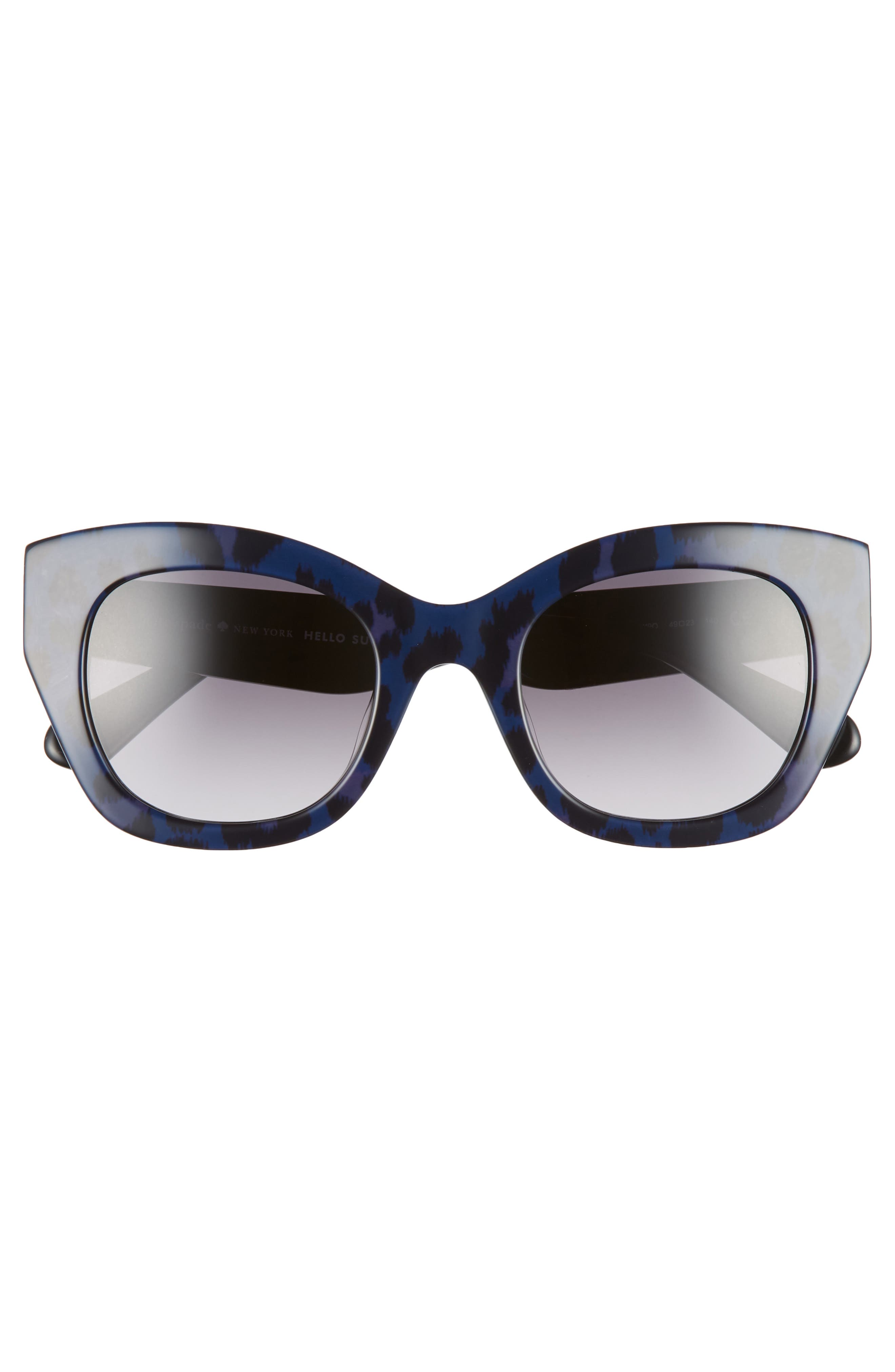 jalena 49mm gradient sunglasses,                             Alternate thumbnail 3, color,                             BLACK PATTERN BLACK