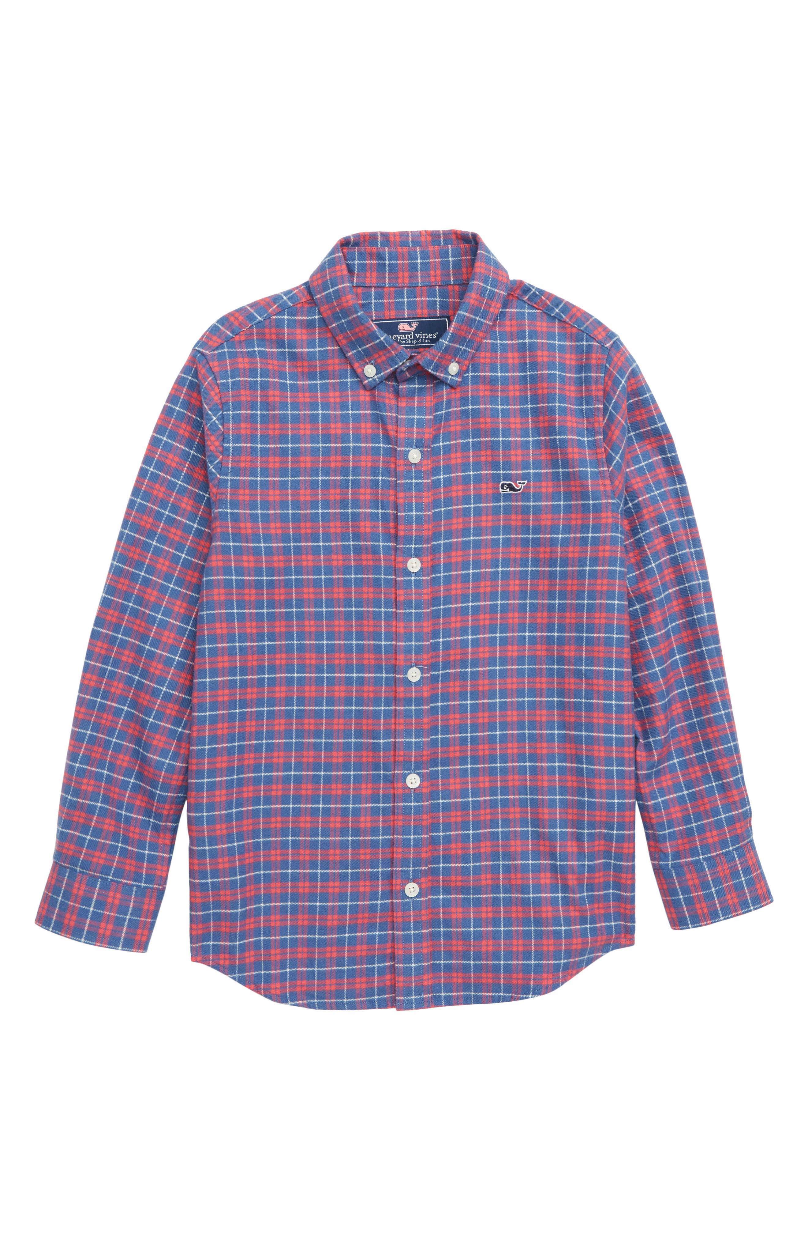 Flannel Whale Shirt,                         Main,                         color, 461