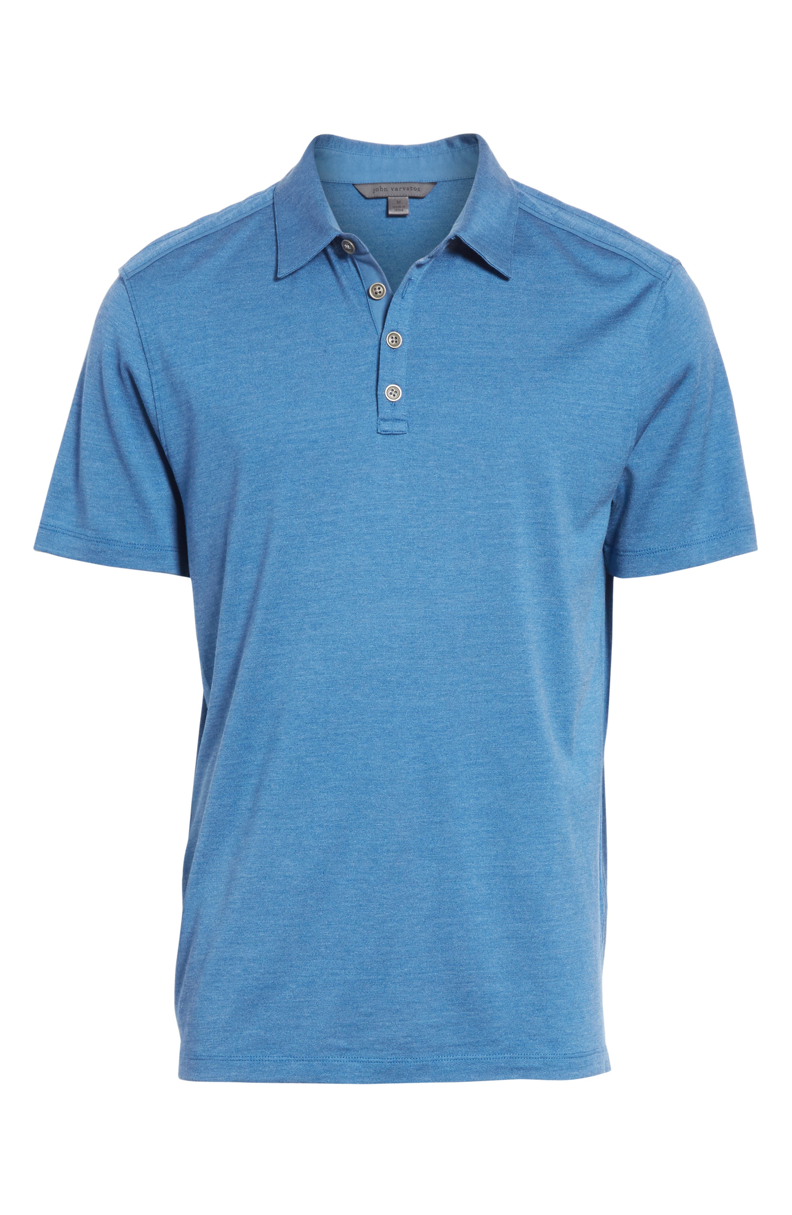Hampton Silk Blend Jersey Polo,                             Alternate thumbnail 6, color,                             DUTCH BLUE