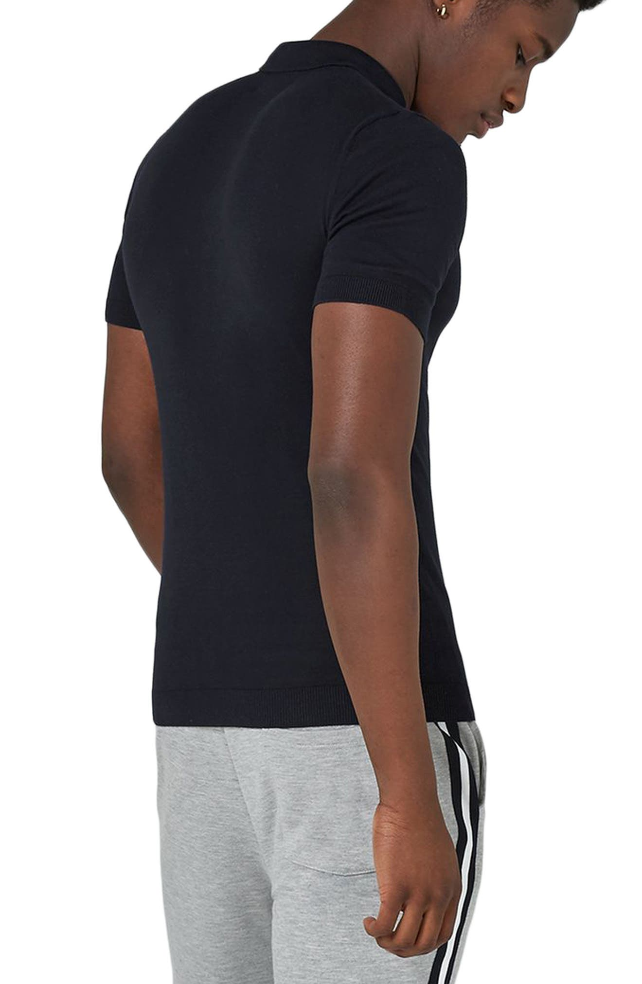 Marled Knit Polo,                             Alternate thumbnail 4, color,