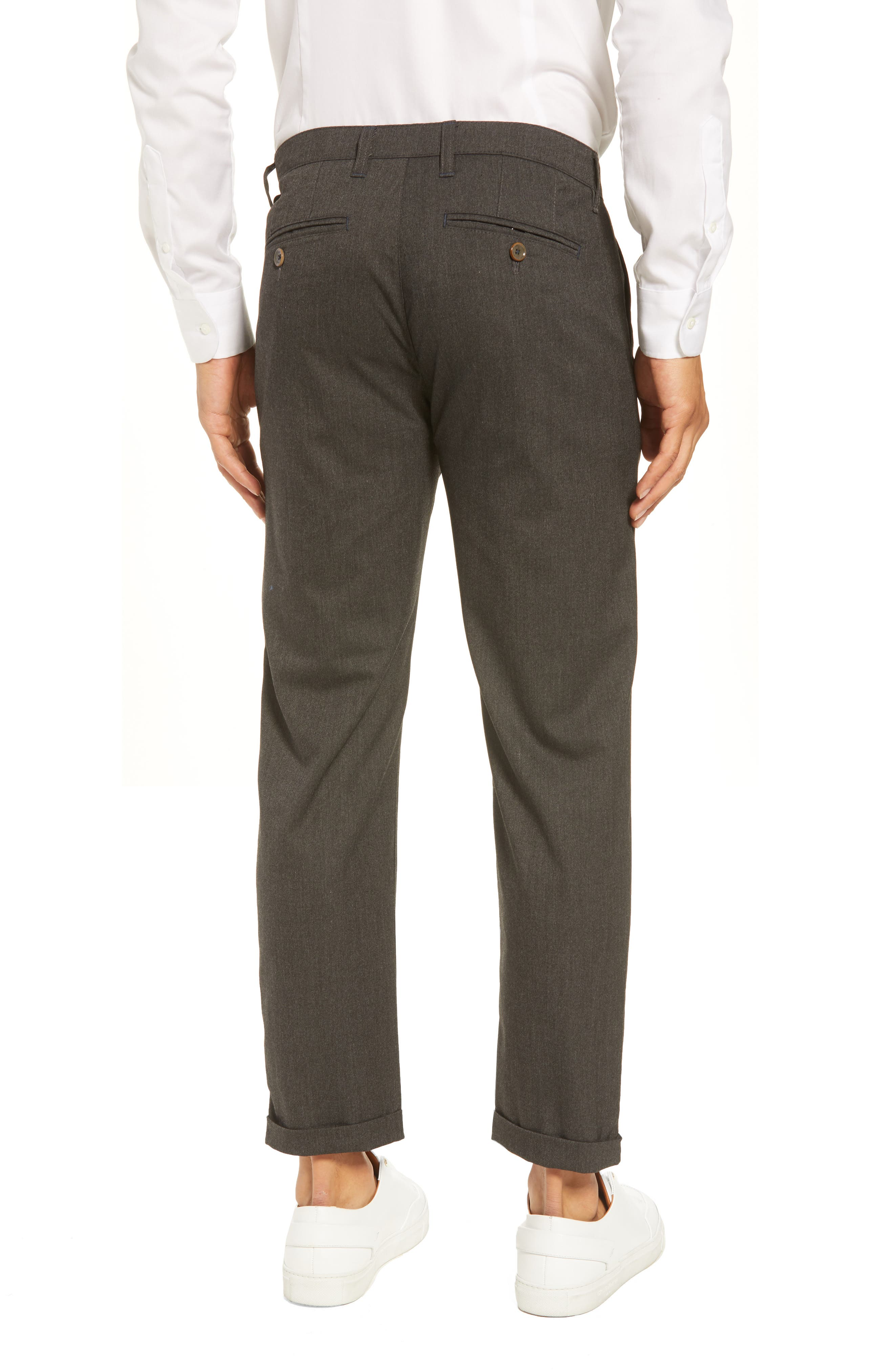 TED BAKER LONDON,                             Champi Pleated Cropped Pants,                             Alternate thumbnail 2, color,                             001
