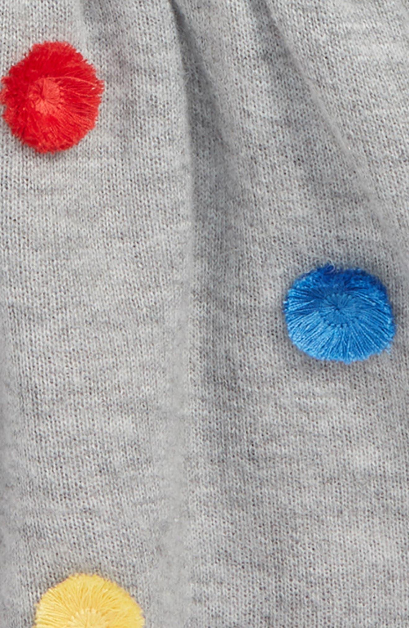 Pompom Hooded Knit Jacket,                             Alternate thumbnail 2, color,                             GREY ASH HEATHER