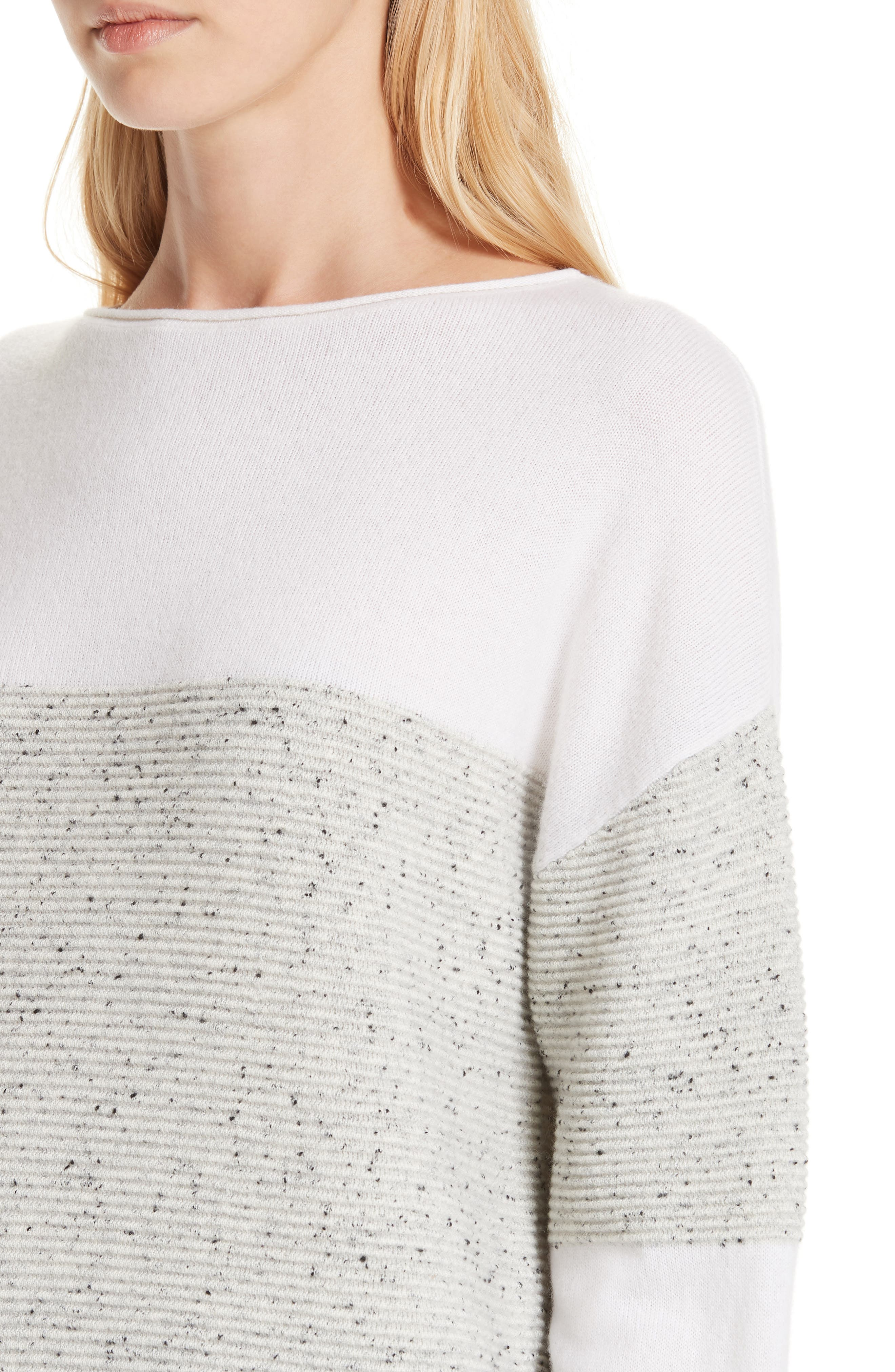 Colorblock Cashmere Sweater,                             Alternate thumbnail 4, color,                             IVORY SOFT MULTI COLOR BLOCK
