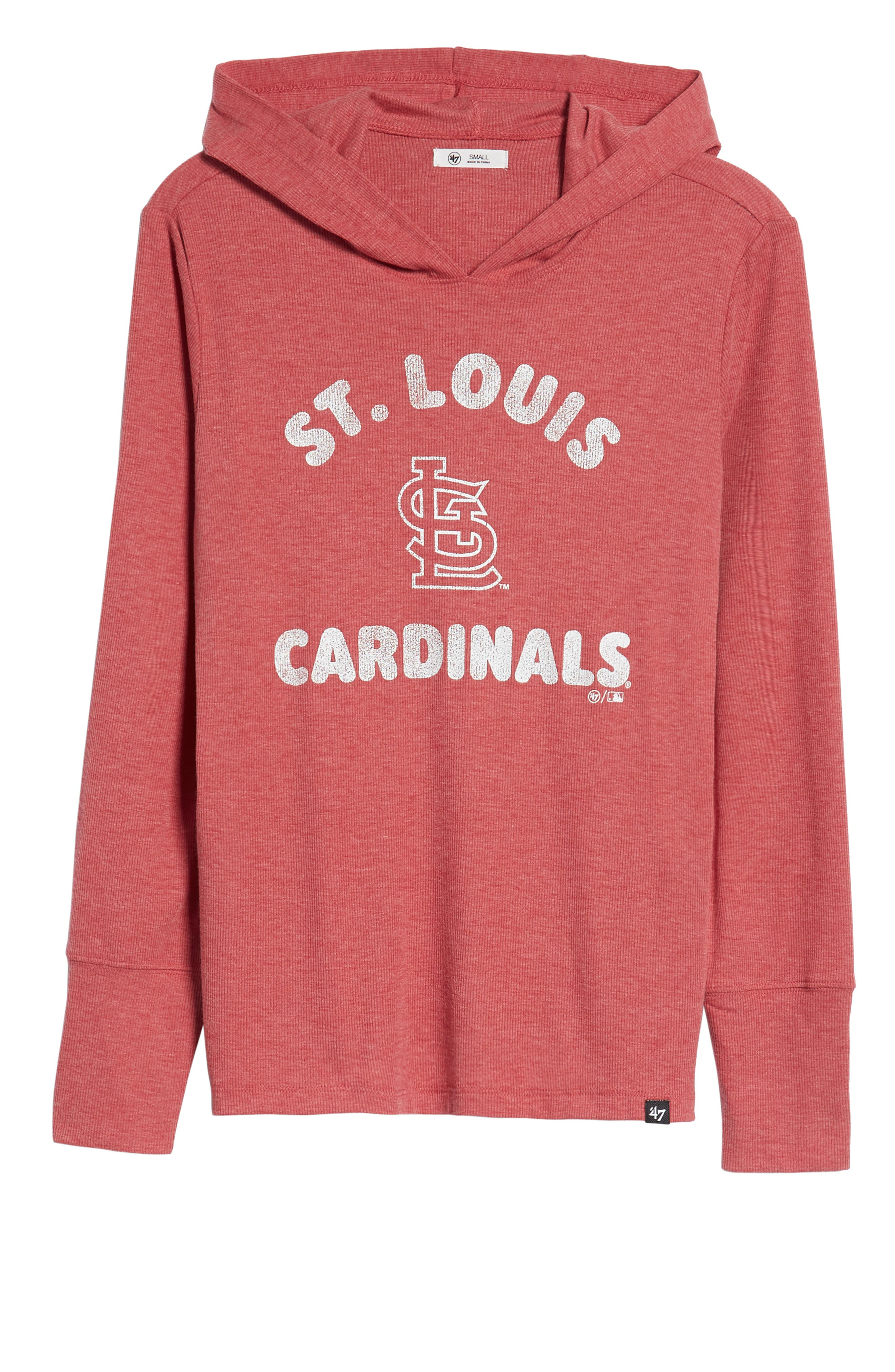 Campbell St. Louis Cardinals Rib Knit Hooded Top,                             Alternate thumbnail 7, color,                             600