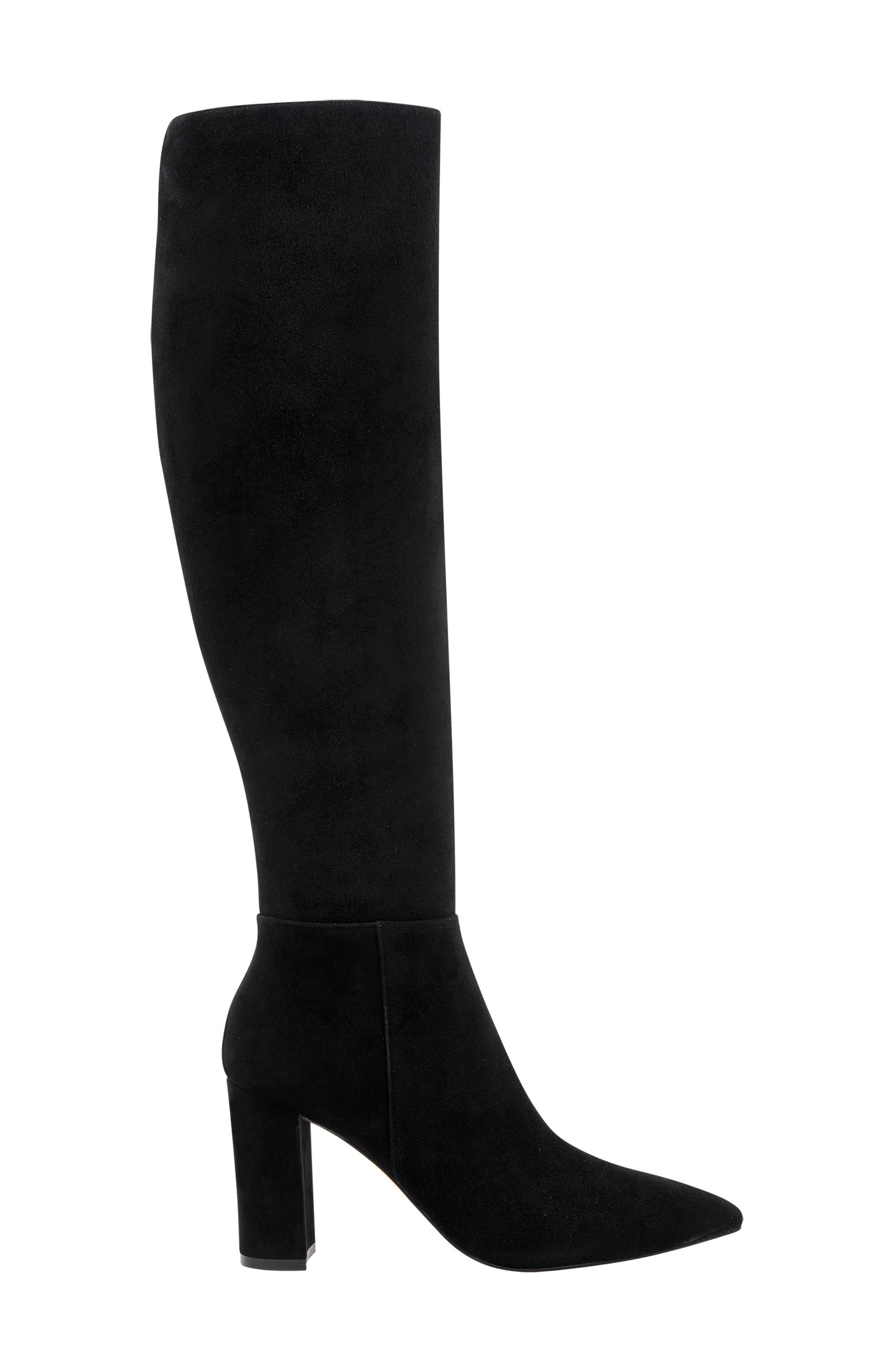 Ulana Knee High Boot,                             Alternate thumbnail 3, color,                             BLACK SUEDE