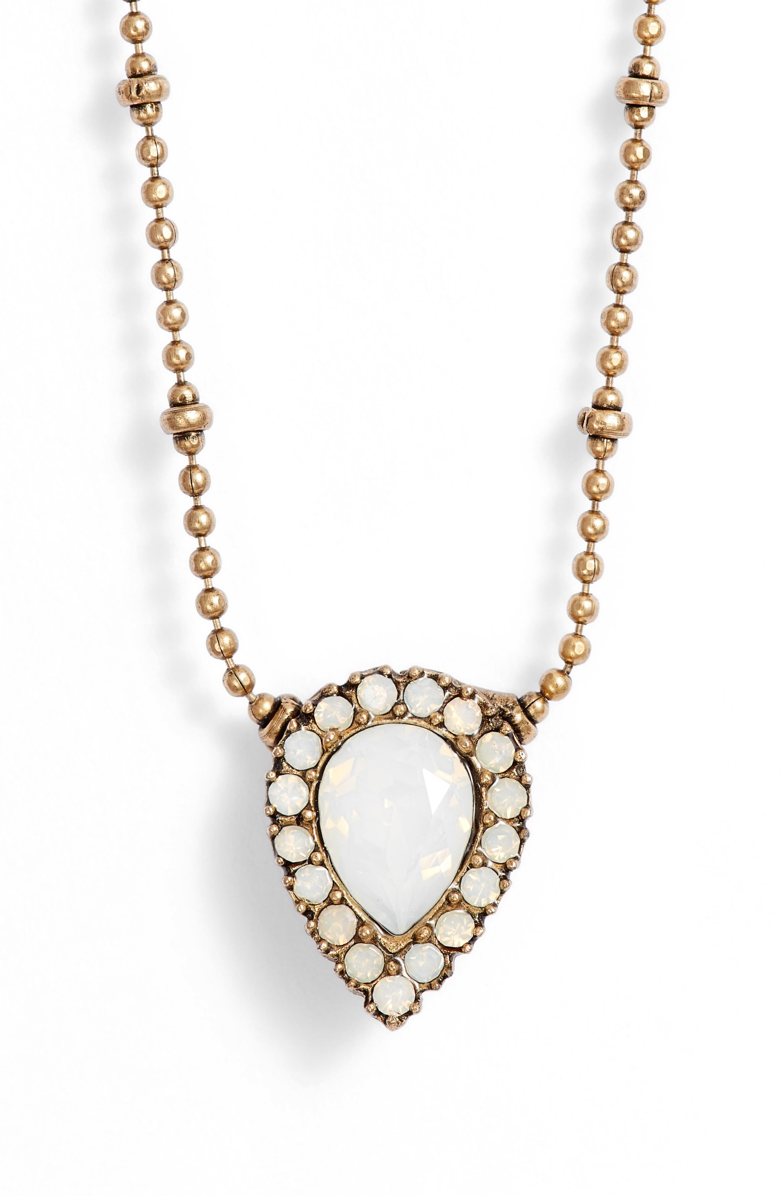 Jamie Pendant Necklace,                             Main thumbnail 1, color,                             GOLD/ WHITE