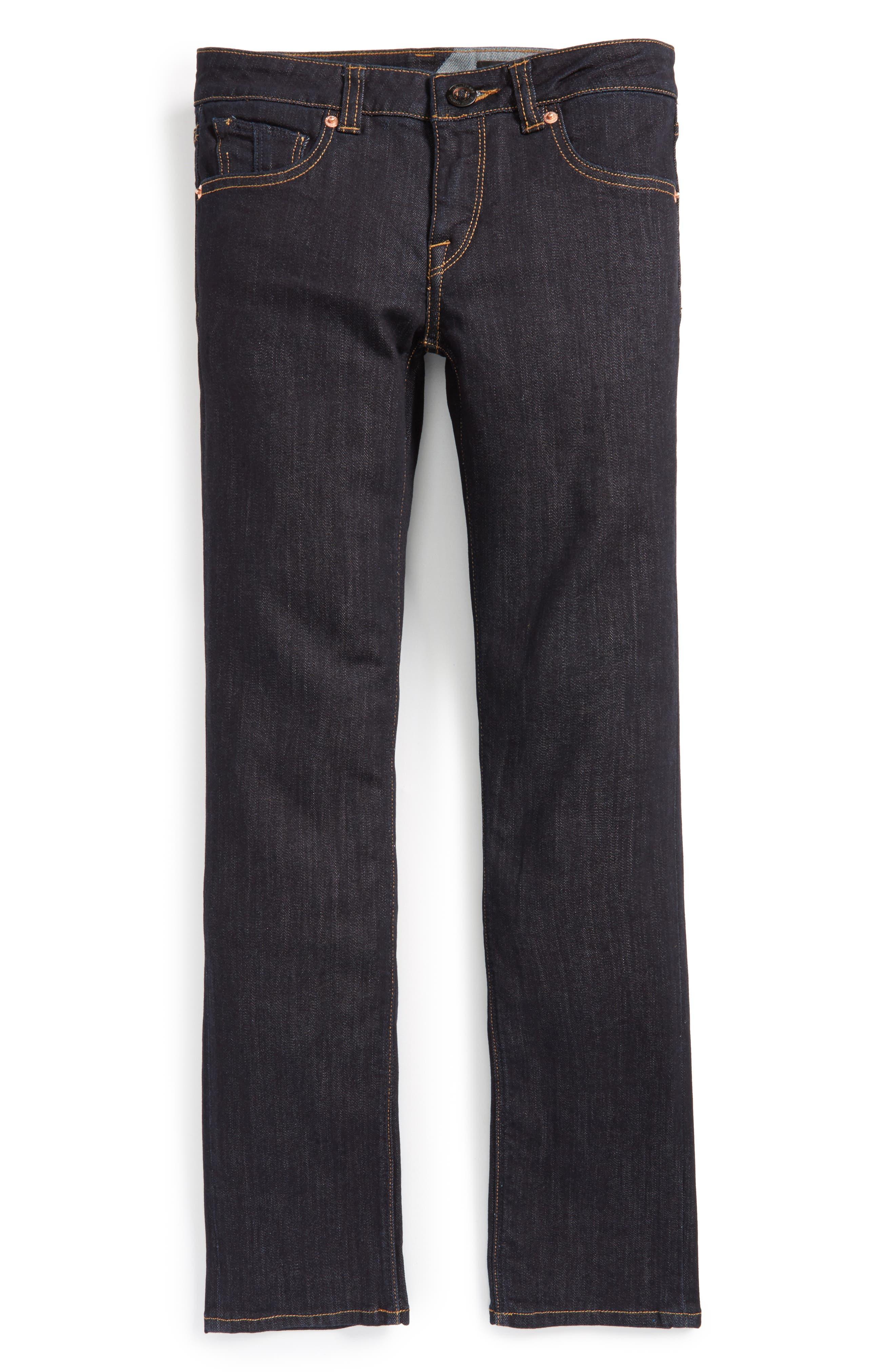 Vorta Slim Fit Jeans,                             Alternate thumbnail 6, color,                             BLUE RINSER