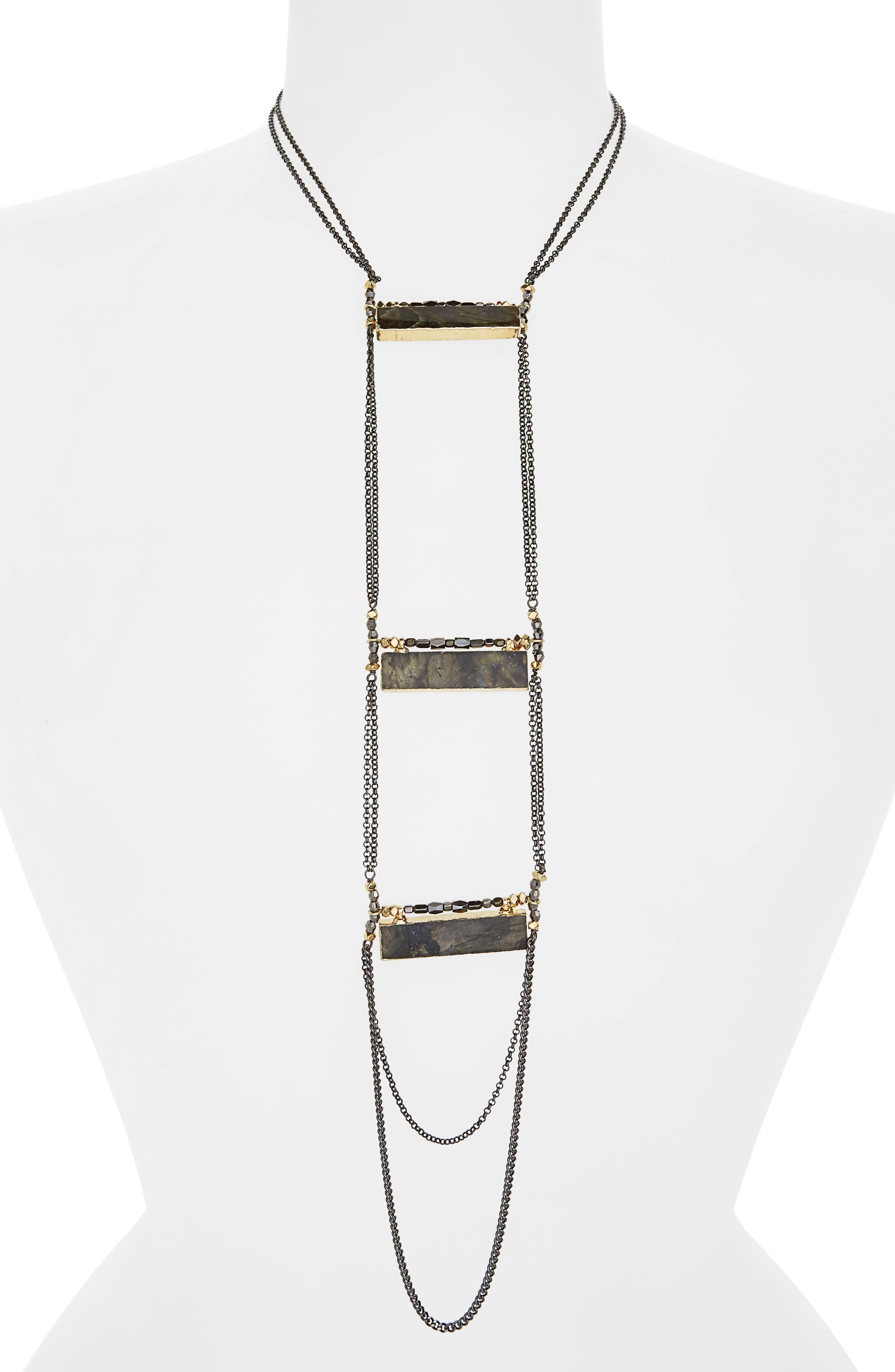 Labradorite Rectangle Necklace,                             Main thumbnail 1, color,