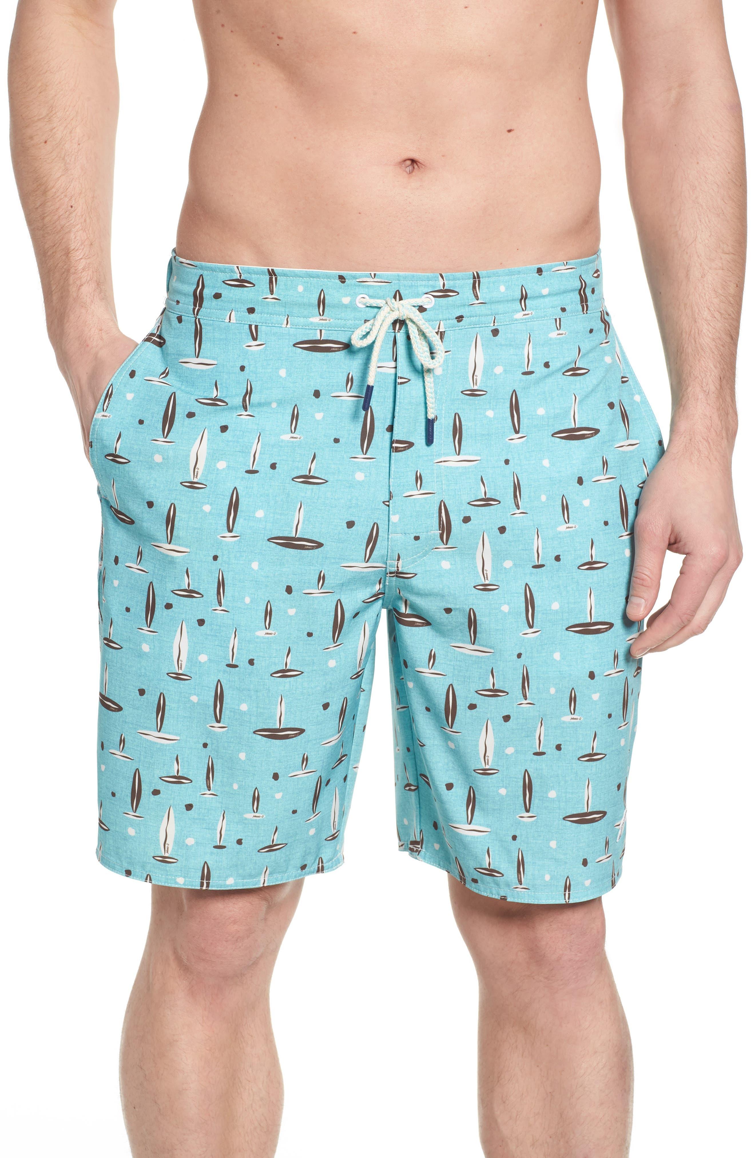 Rowan Regular Fit Board Shorts,                         Main,                         color, SURF