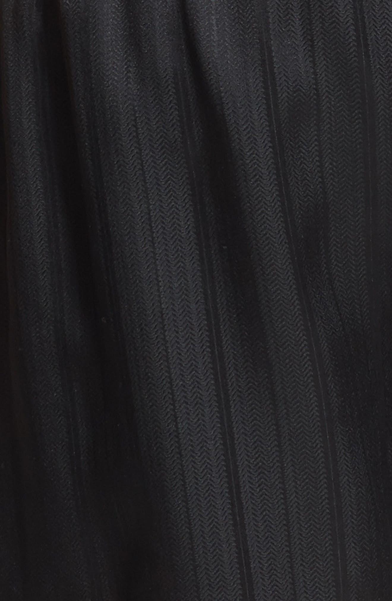 Herringbone Stripe Silk Boxer Shorts,                             Alternate thumbnail 3, color,                             NIGHT