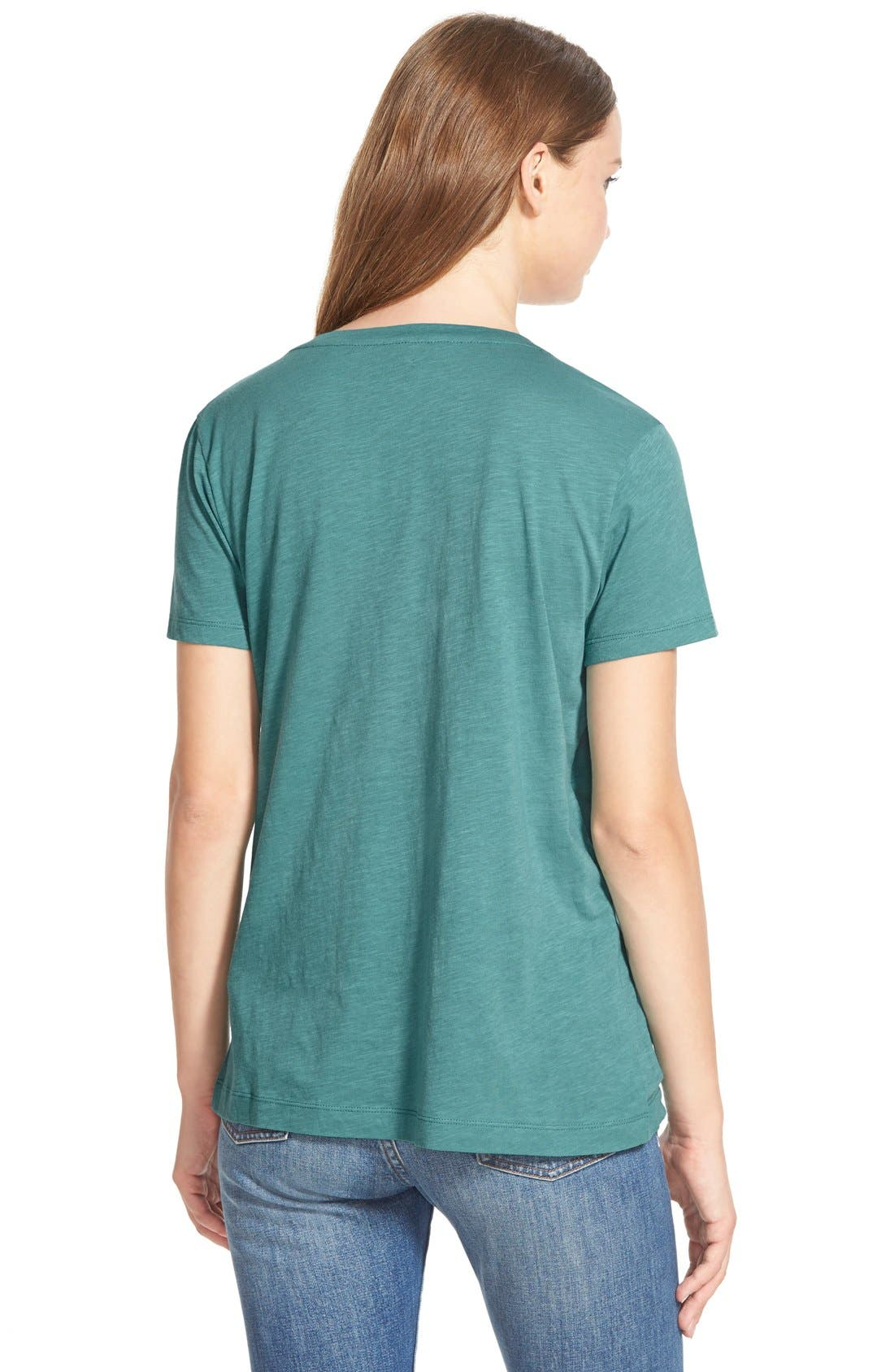 Whisper Cotton V-Neck Pocket Tee,                             Alternate thumbnail 65, color,