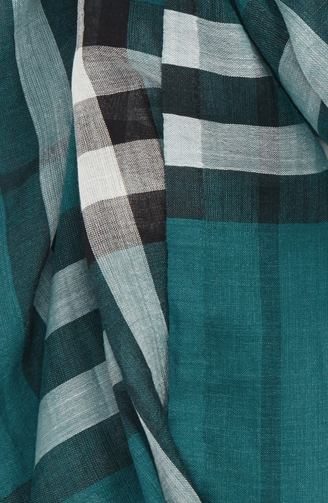 Giant Check Print Wool & Silk Scarf,                             Alternate thumbnail 134, color,