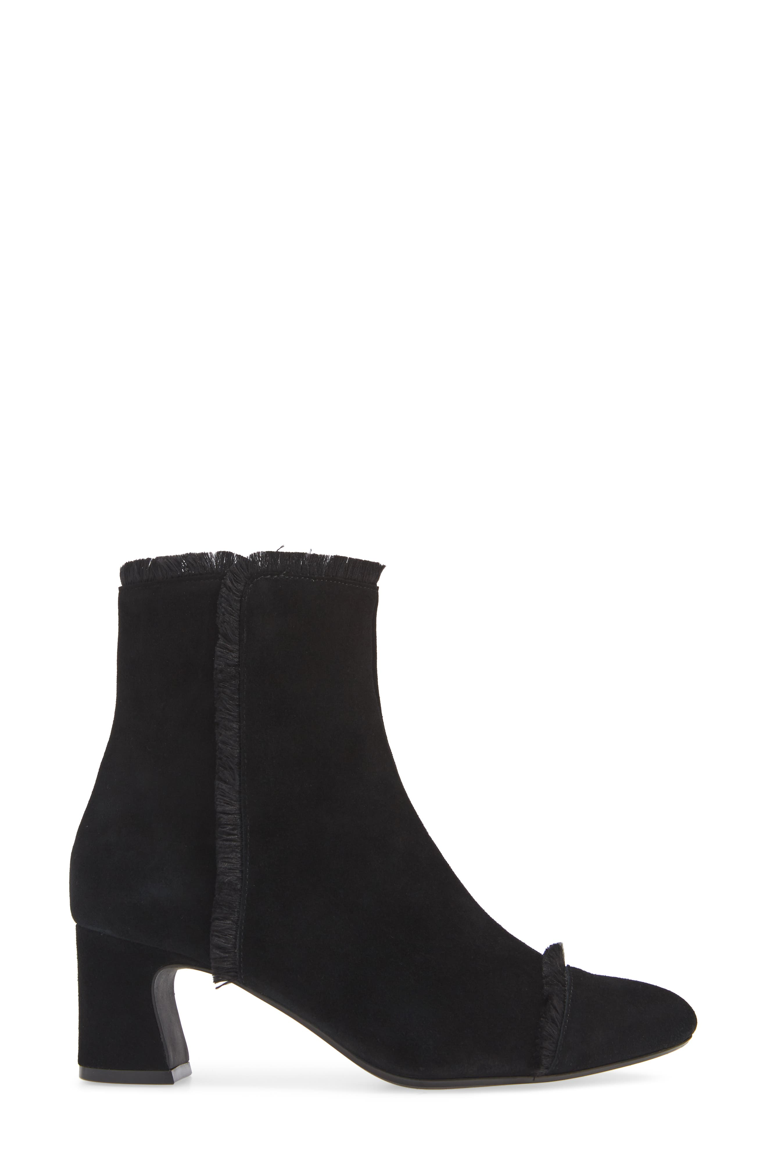 Danzing Fringe Bootie,                             Alternate thumbnail 3, color,                             BLACK SUEDE