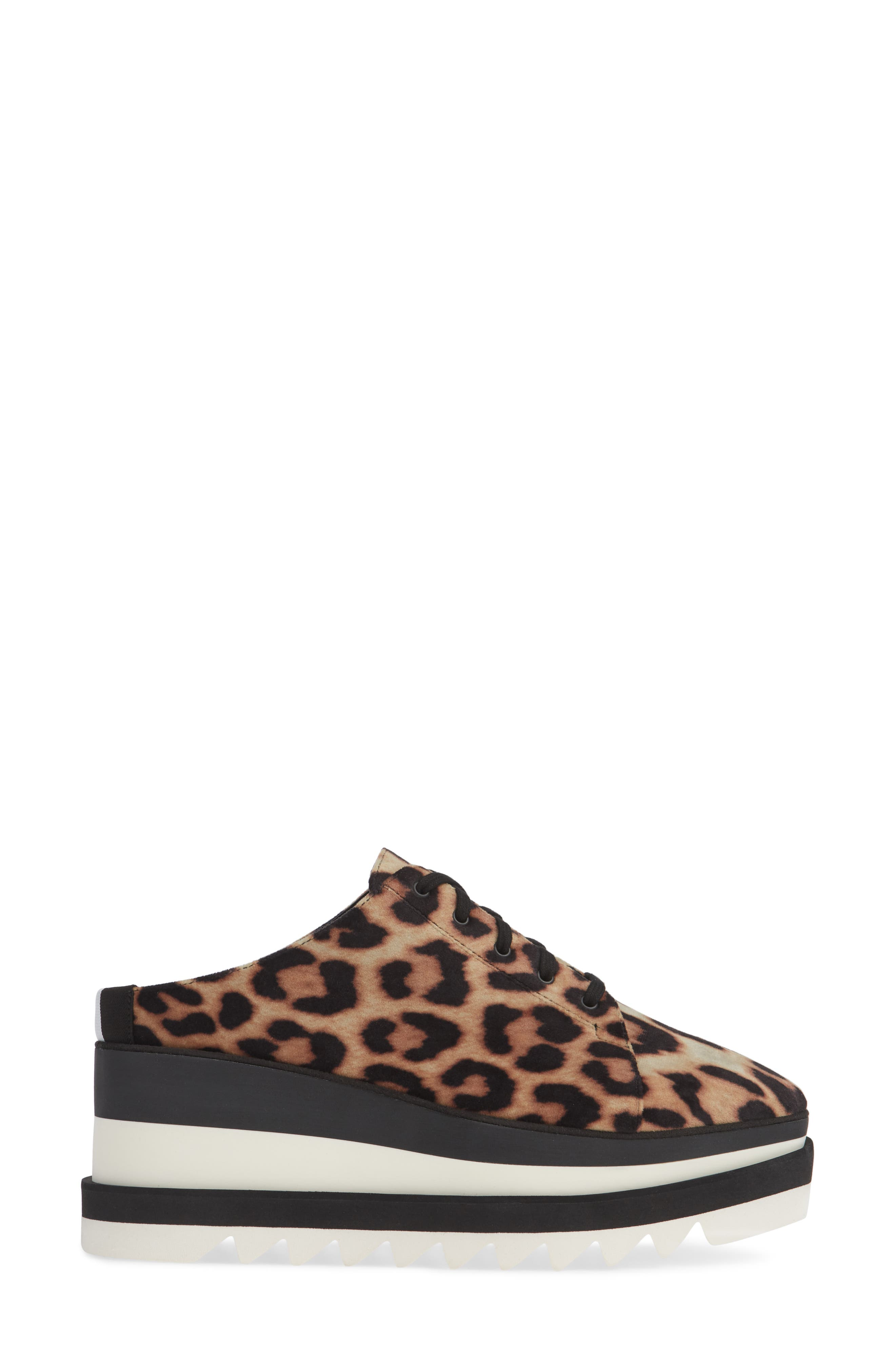 Sneak-Elyse Platform Mule,                             Alternate thumbnail 3, color,                             LEOPARD PRINT