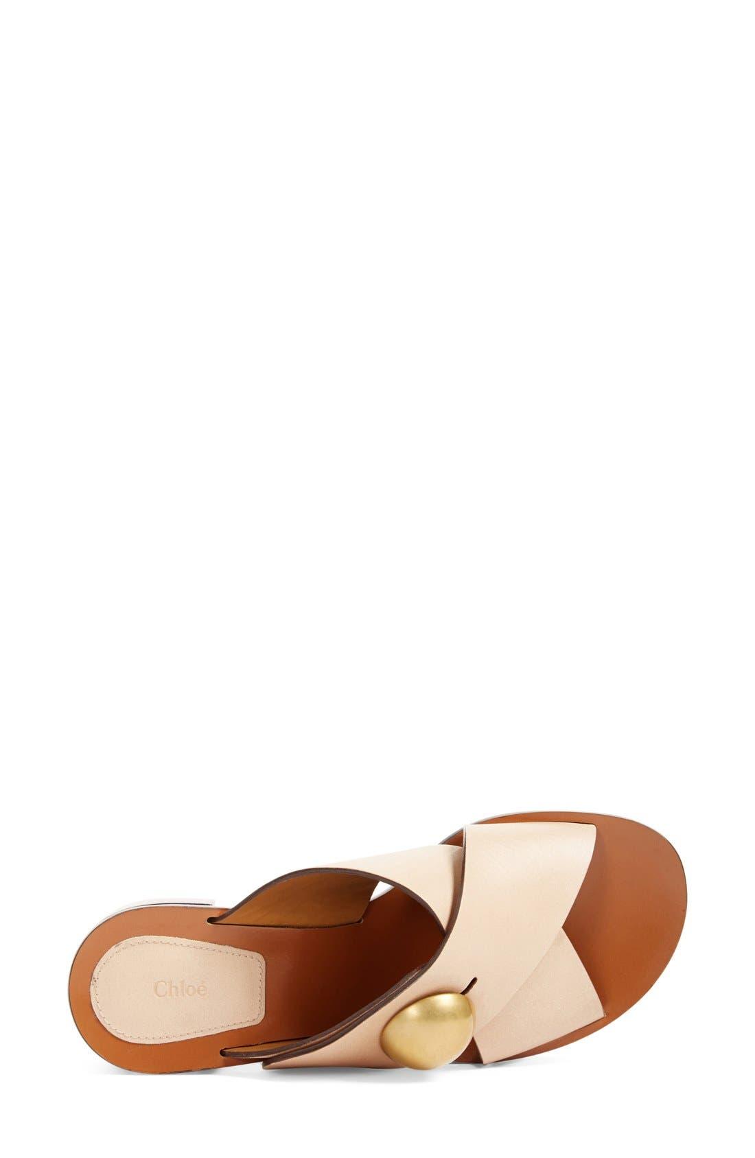 Block Heel Slide Sandal,                             Alternate thumbnail 3, color,