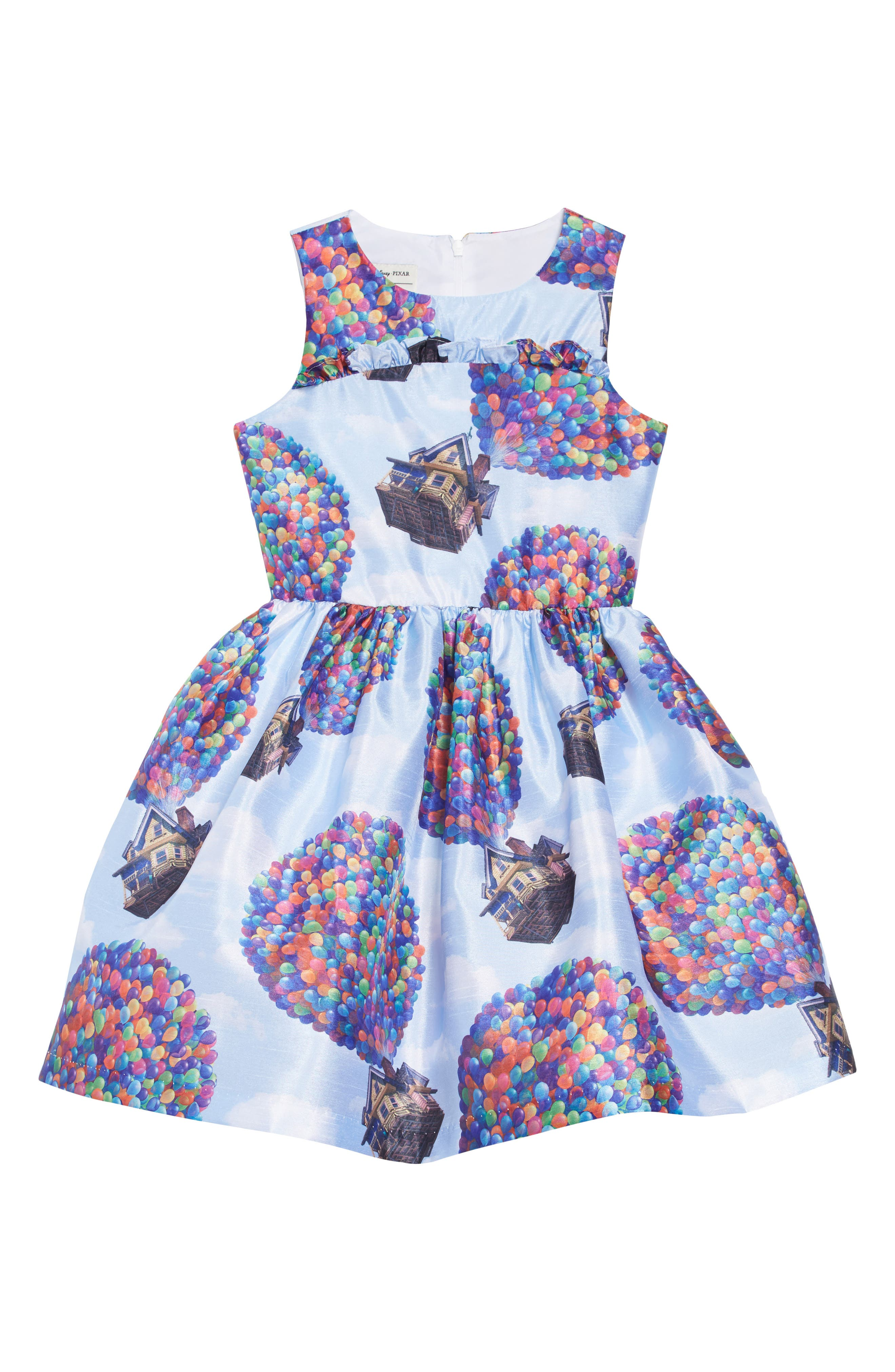PIPPA & JULIE x Disney<sup>®</sup> Up House Fit & Flare Dress, Main, color, BLUE
