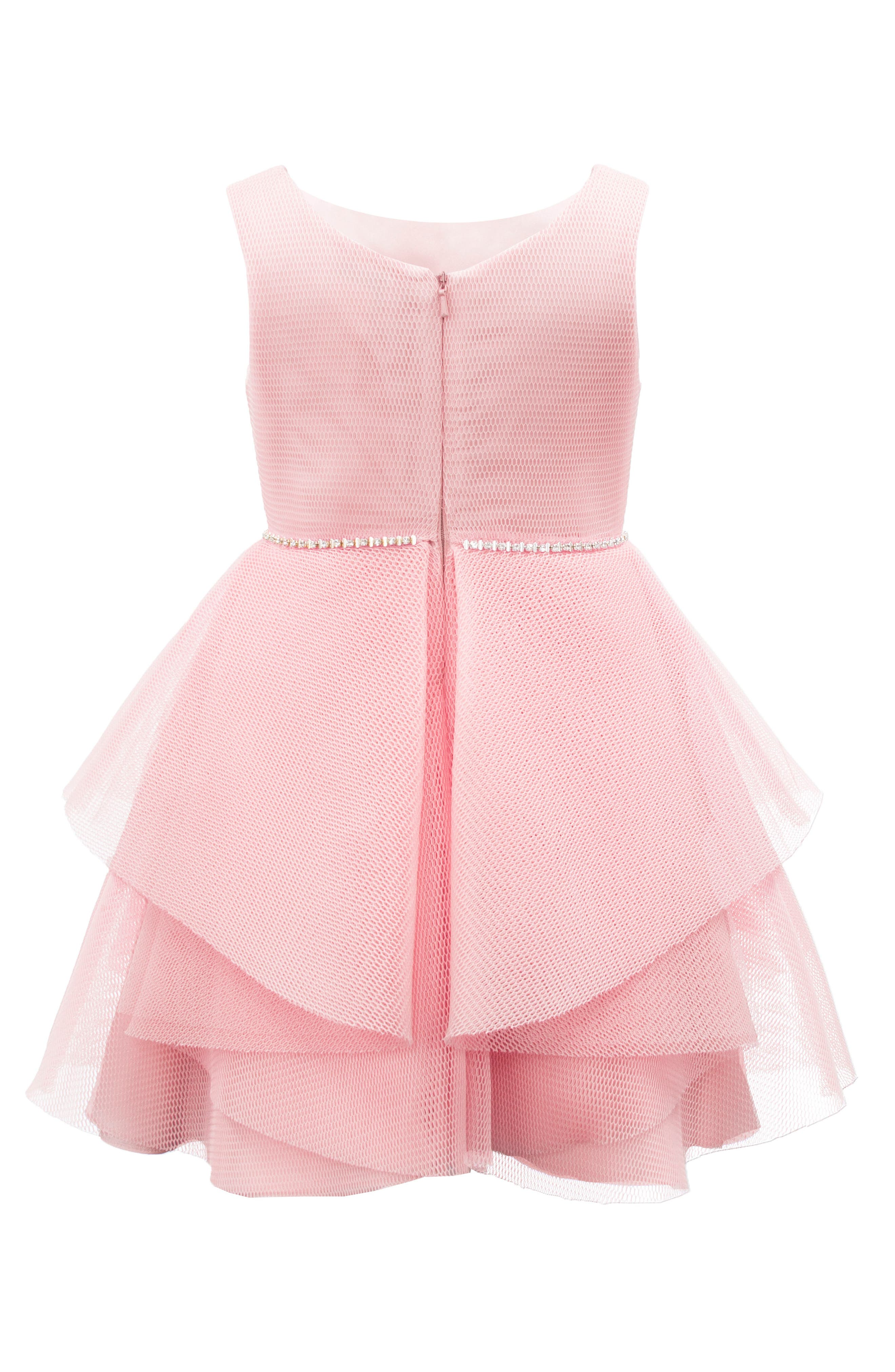 Wrapover Mesh Dress,                             Alternate thumbnail 2, color,                             660