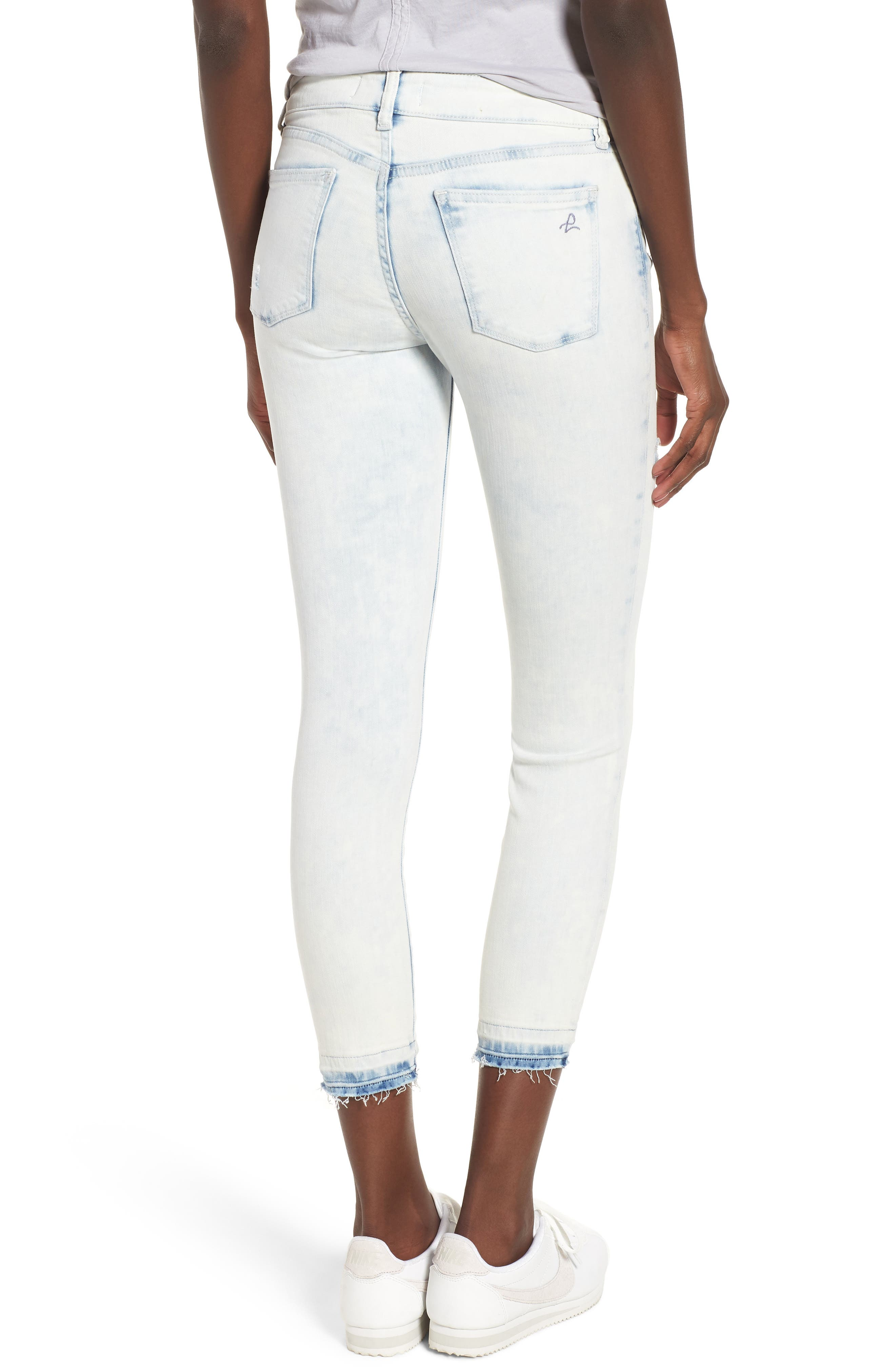 Florence Instasculpt Crop Skinny Jeans,                             Alternate thumbnail 2, color,                             MITCHELL