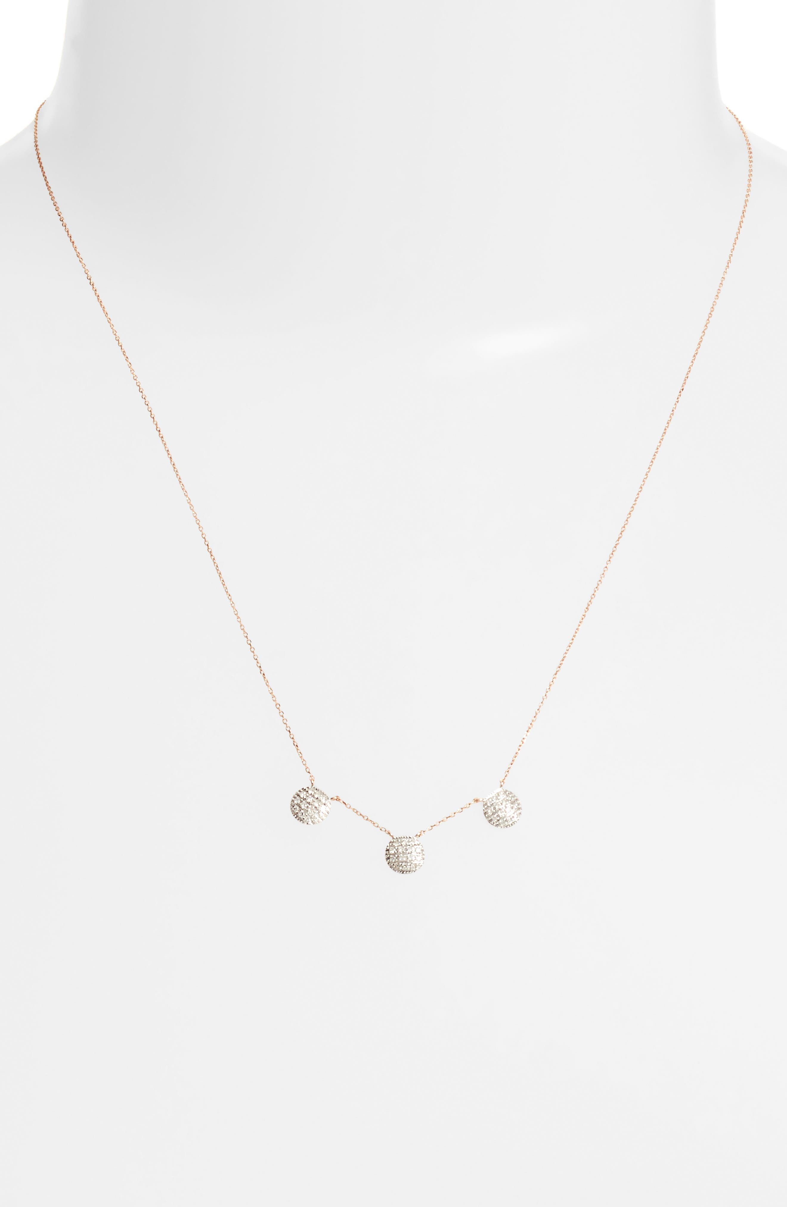 Lauren Joy Three-Disc Diamond Necklace,                             Alternate thumbnail 6, color,