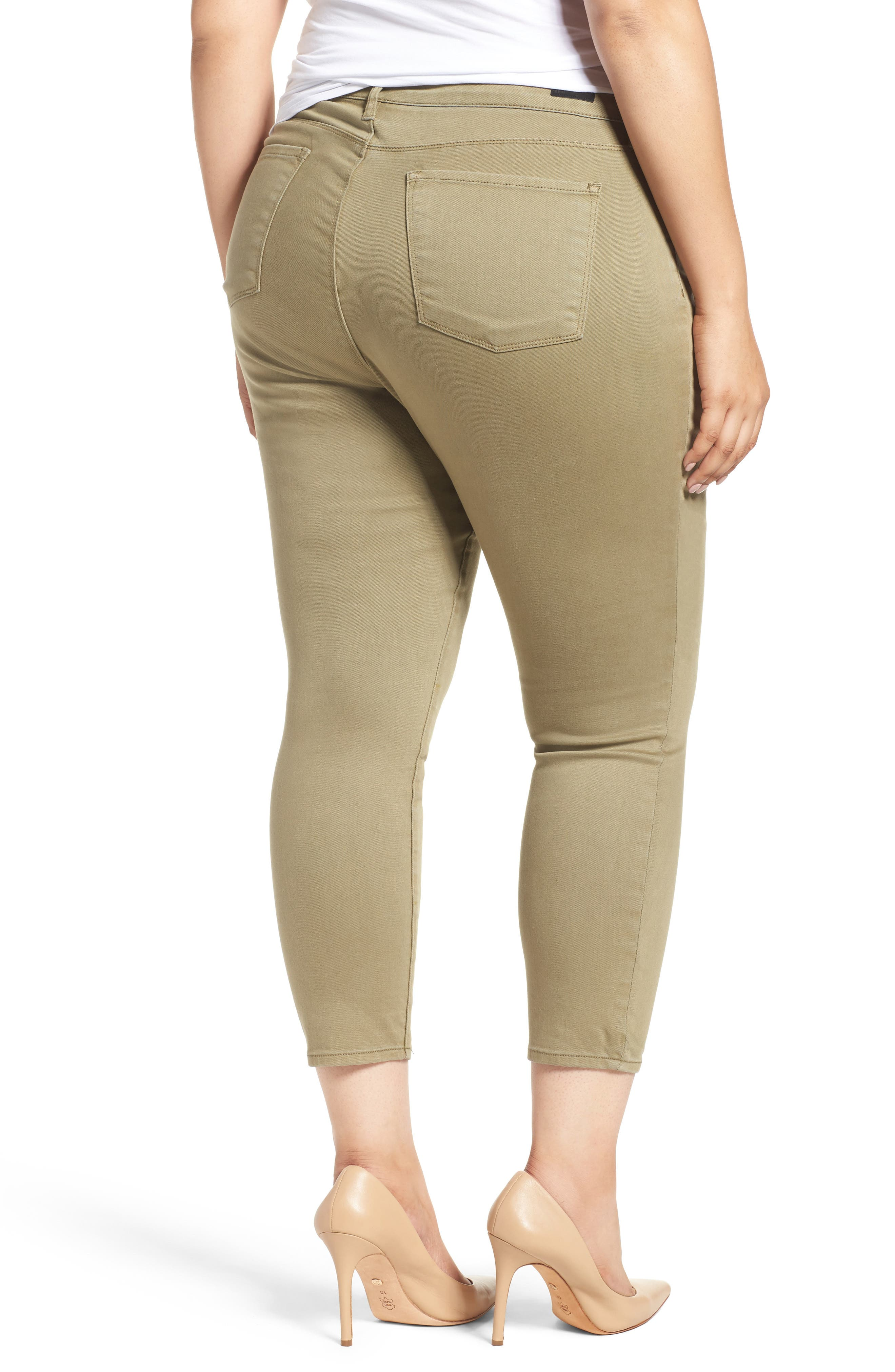 Reese Stretch Ankle Skinny Pants,                             Alternate thumbnail 2, color,                             OLIVE