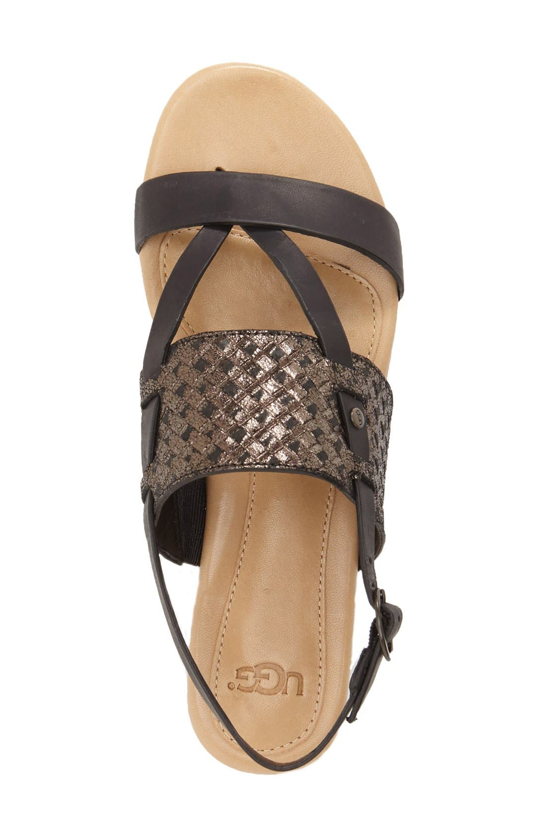 'Verona' Slingback Sandal,                             Alternate thumbnail 4, color,                             001