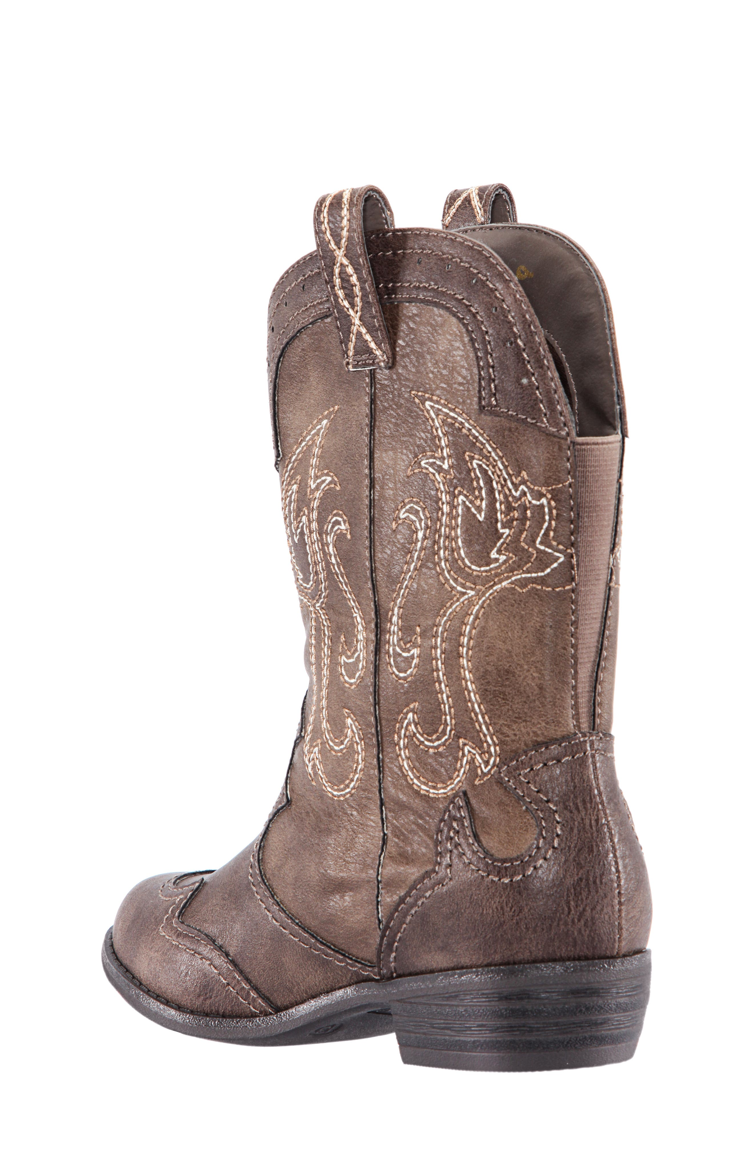 Beti Western Boot,                             Alternate thumbnail 2, color,                             BROWN DISTRESSED