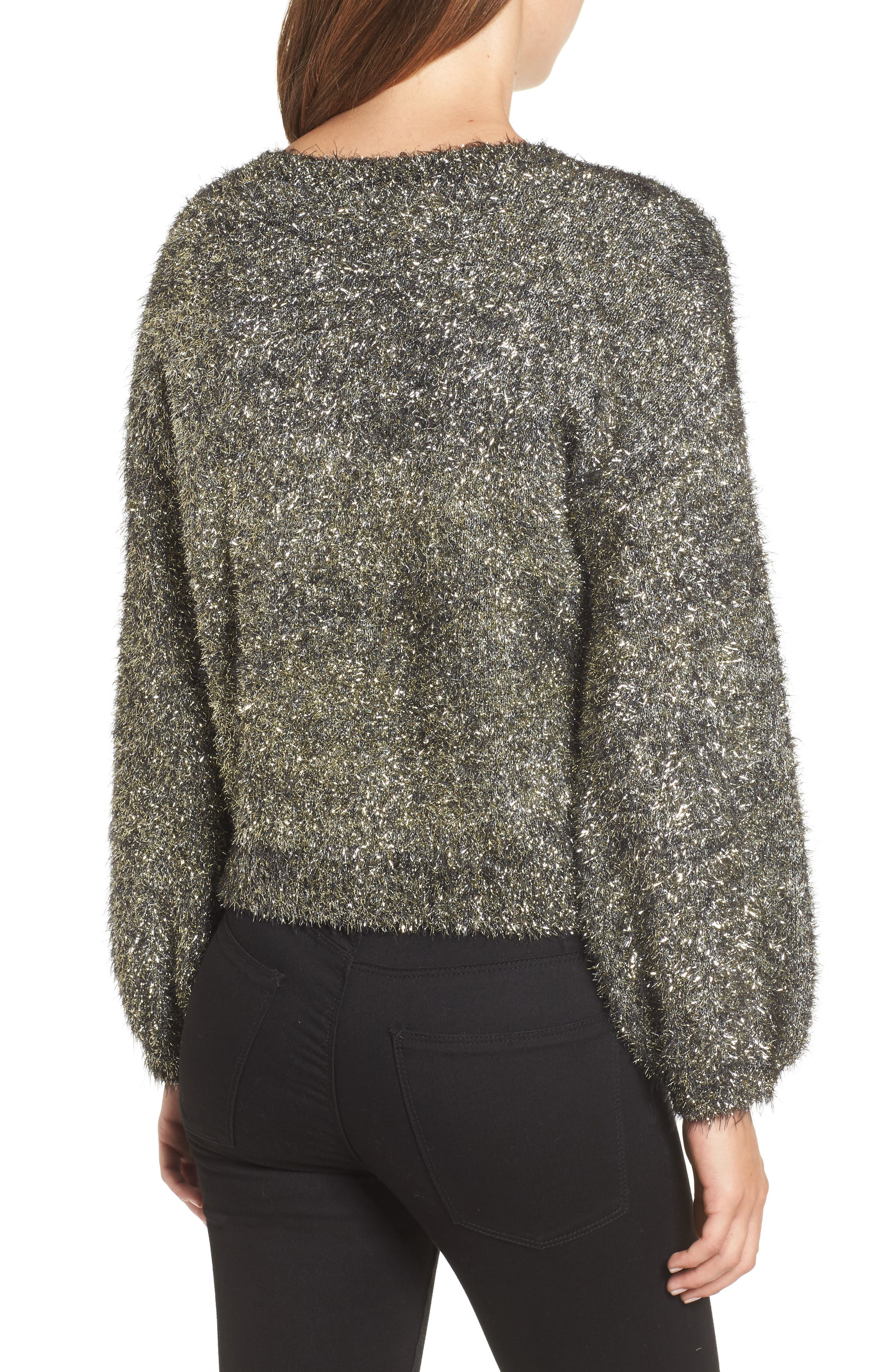 Fluffy Sparkle Sweater,                             Alternate thumbnail 2, color,                             710
