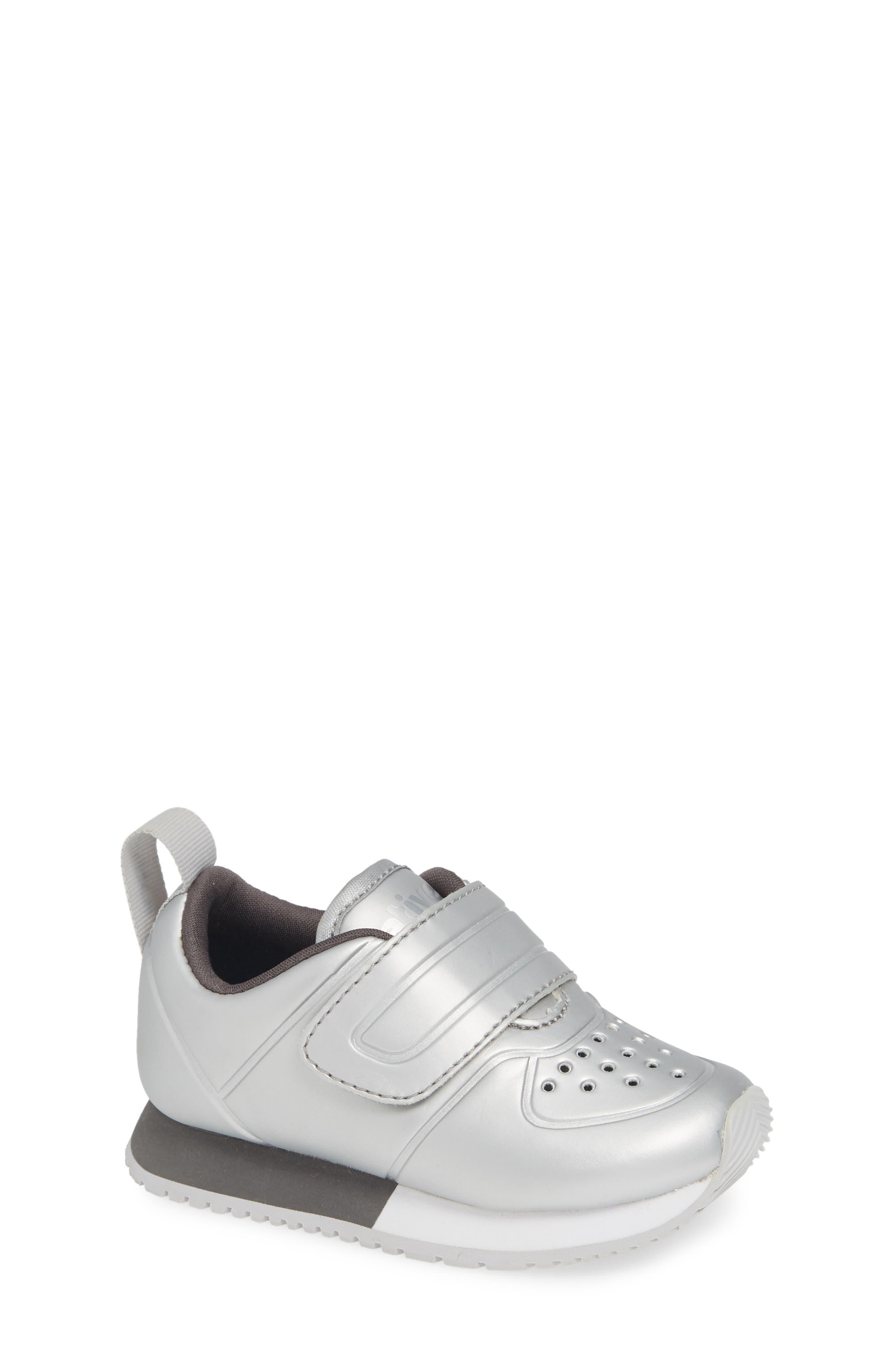 Cornell Perforated Metallic Sneaker,                             Main thumbnail 1, color,                             SILVER/ WHITE/ DUBLIN GREY