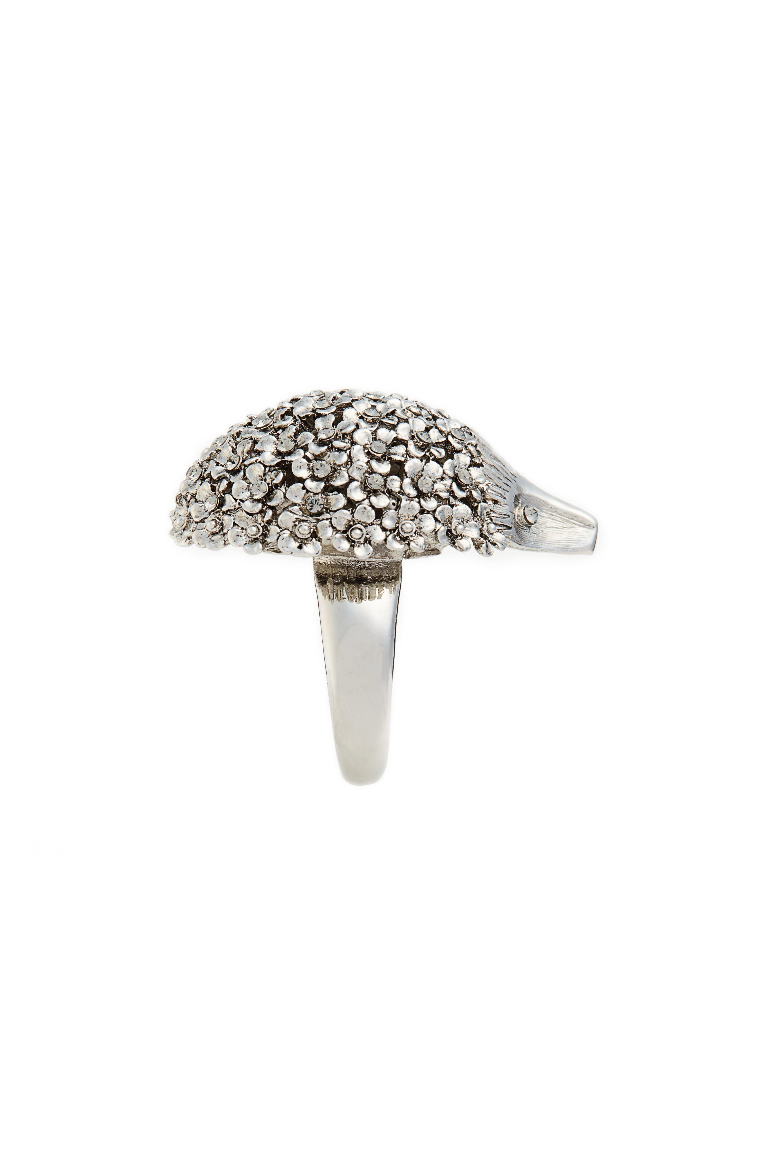 Crystal Hedgehog Ring,                             Alternate thumbnail 2, color,                             001