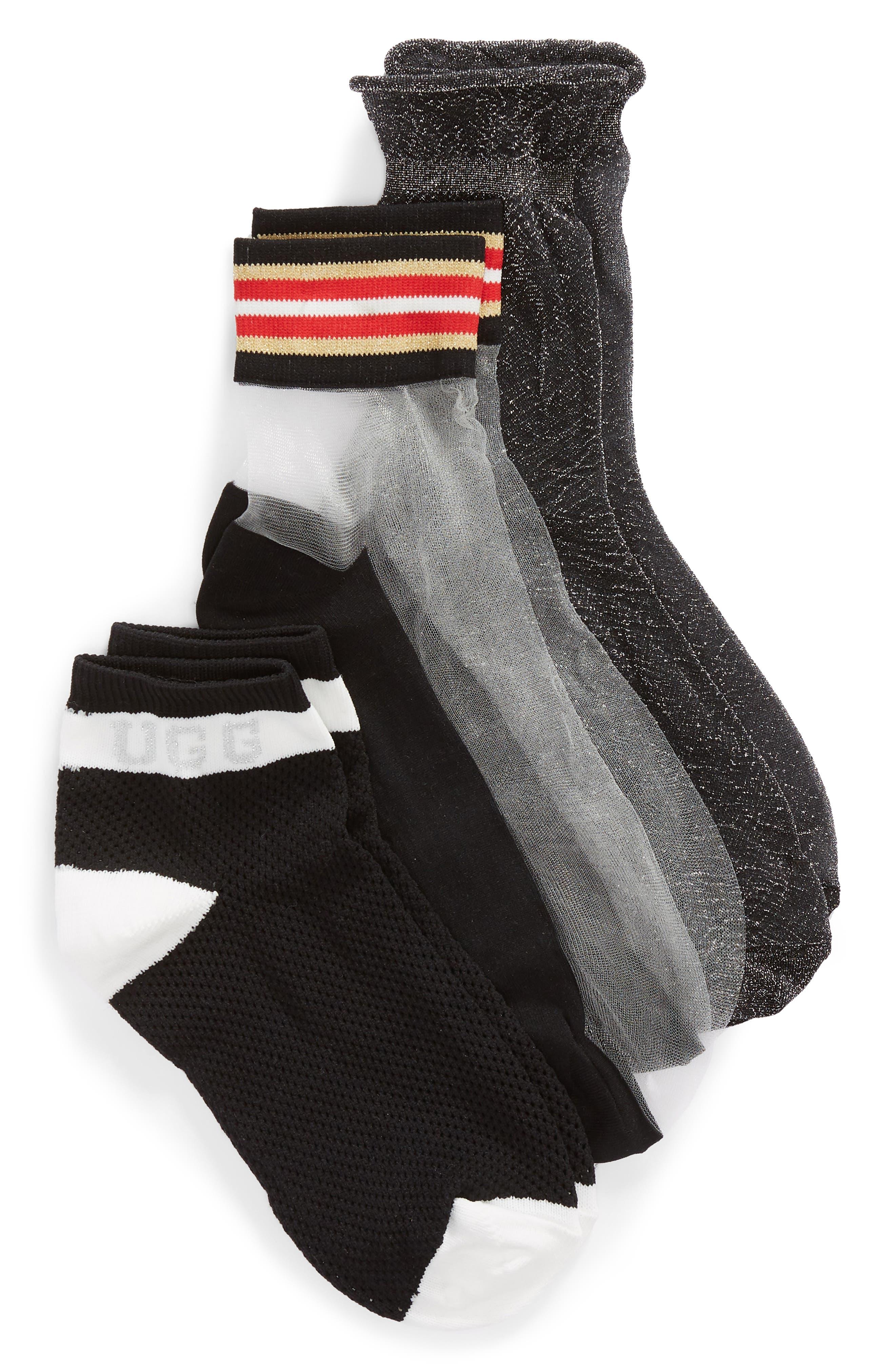 3-Pack Ash Ankle Socks,                             Main thumbnail 1, color,                             MULTI
